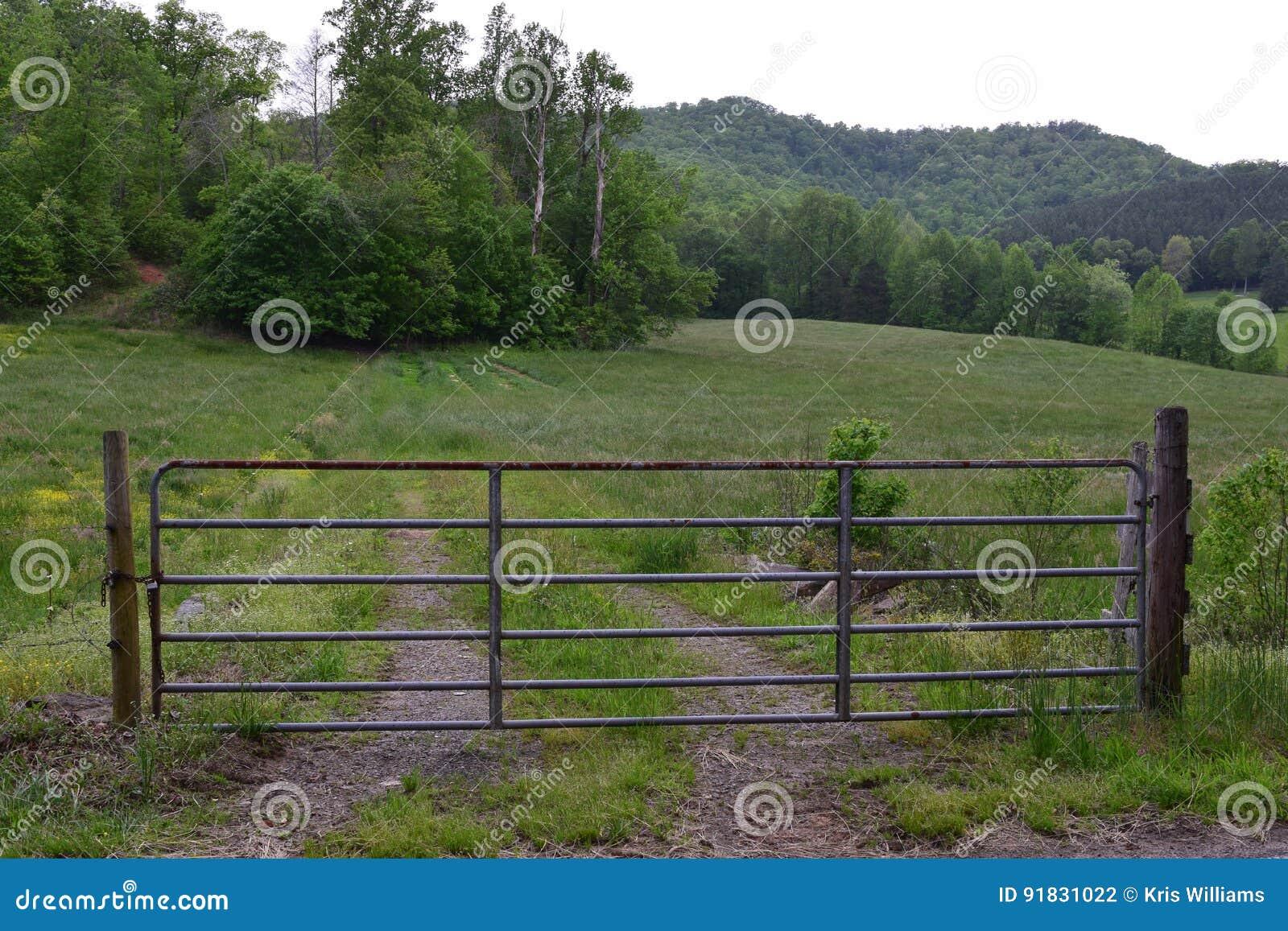 Western NC rural country gated farm field