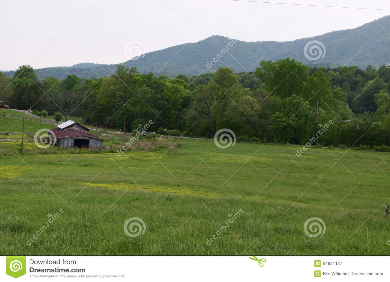 Western NC rural country mountain farm fields