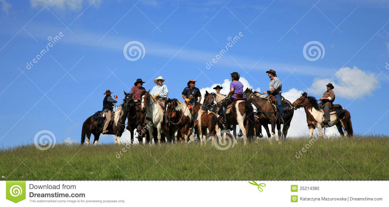 Cowboy And Horse On The Prairie Royalty Free Stock Photography Cartoondealer Com 68936309