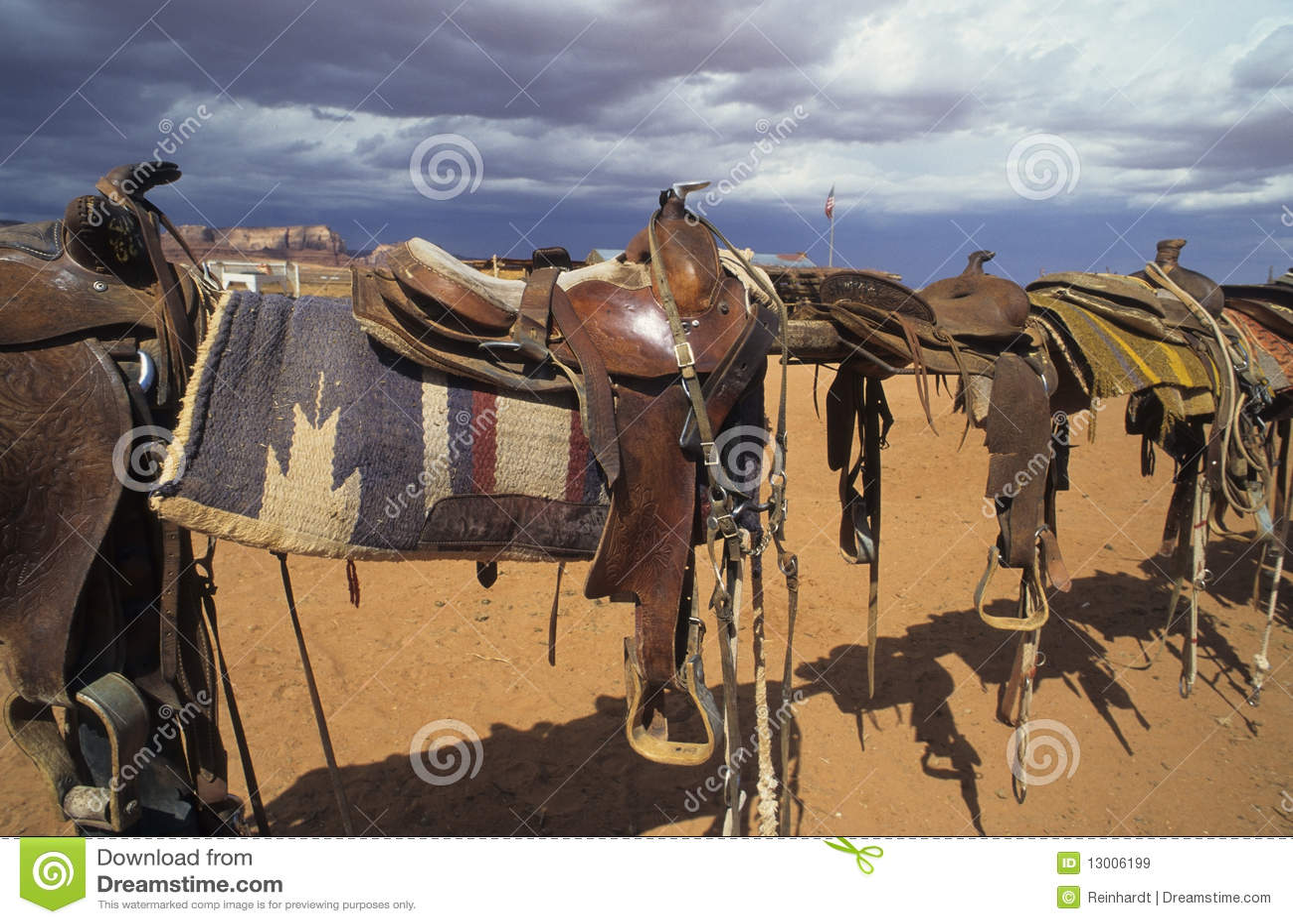 Western saddles stock image  Image of saddle, leather - 13006199
