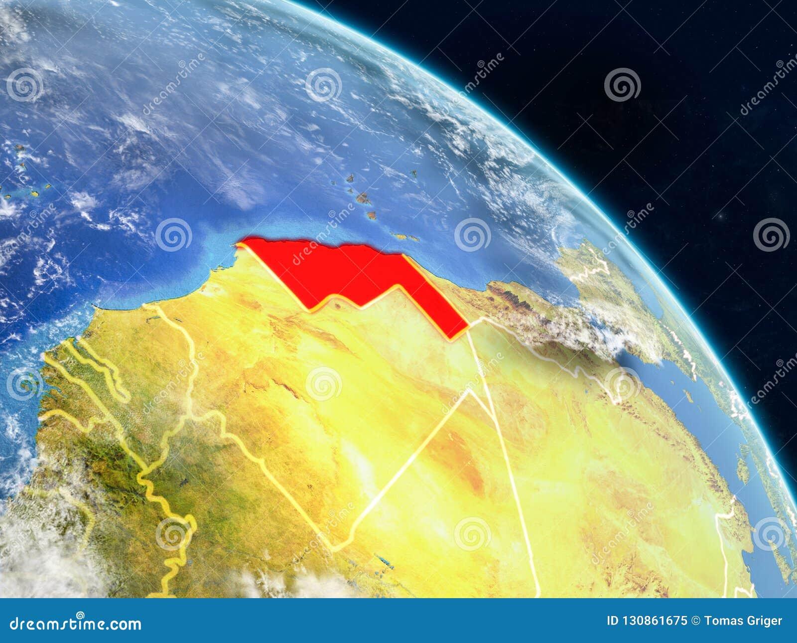 Western Sahara del espacio