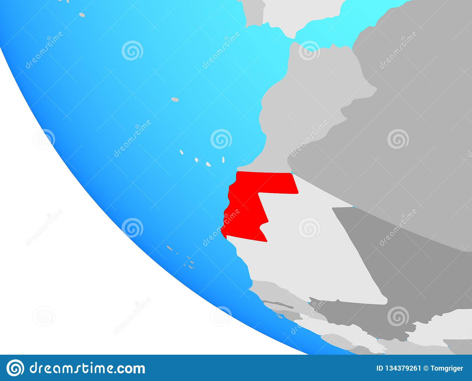 Western Sahara en el globo