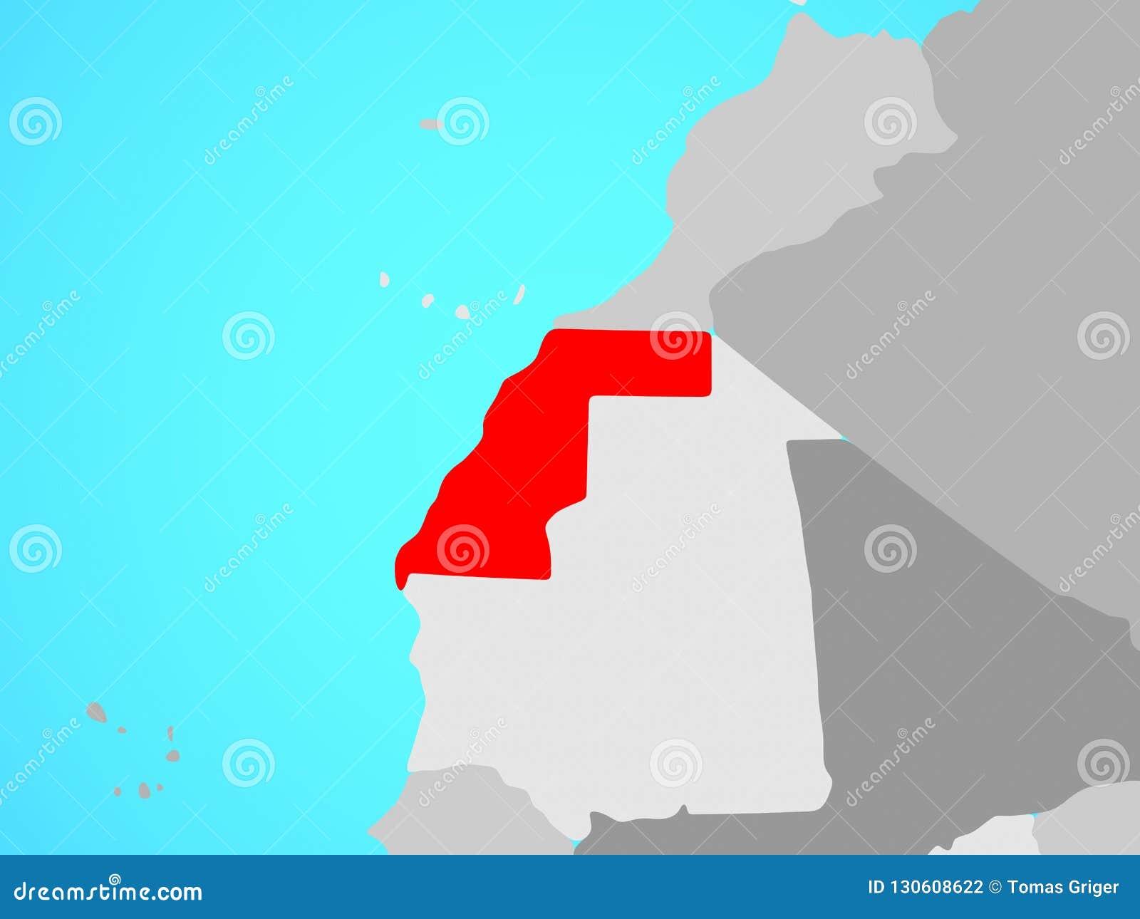 Western Sahara en mapa