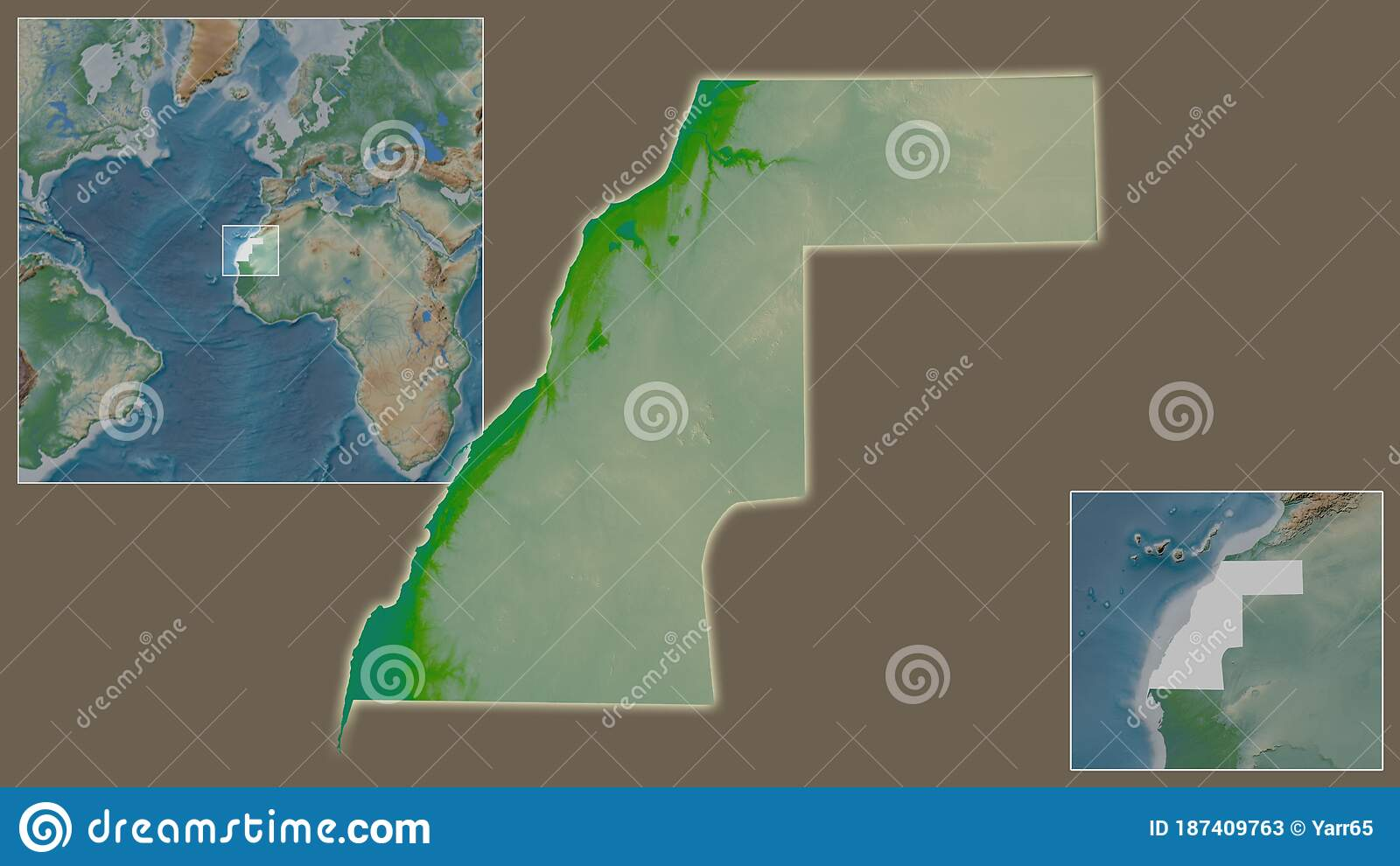 Image of: Western Sahara Physical Country And Its Location Stock Illustration Illustration Of Ocean Aaiun 187409763