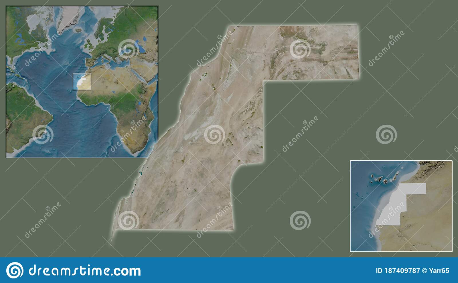 Image of: Western Sahara Satellite Country And Its Location Stock Illustration Illustration Of Extracted Close 187409787