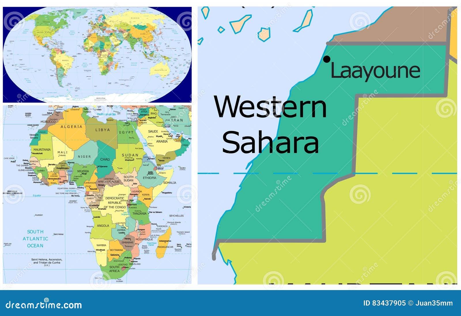 Image of: Western Sahara World Stock Illustration Illustration Of Country 83437905