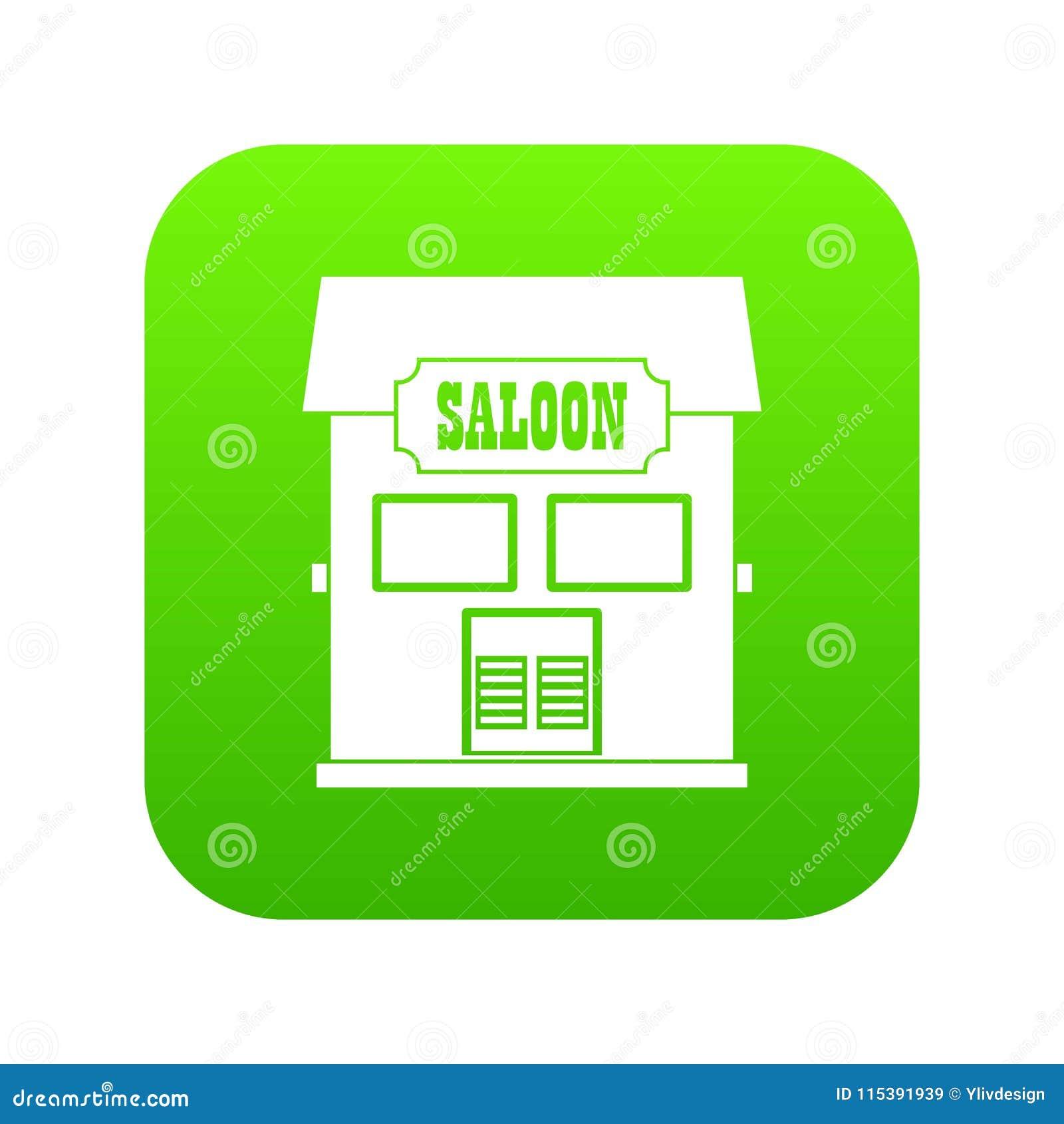 Western Saloon Icon Digital Green Stock Vector Illustration Of