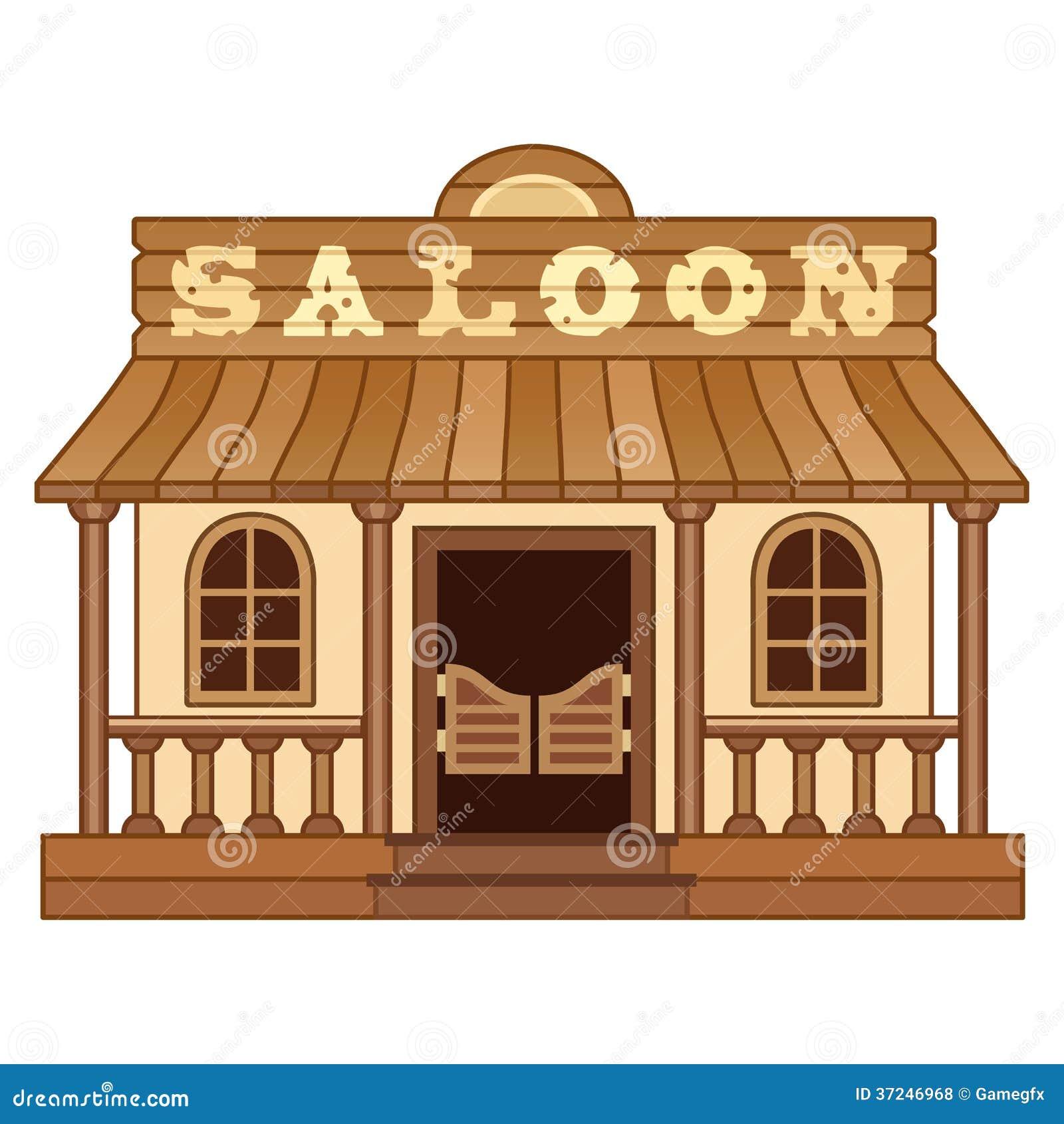western saloon stock illustration illustration of wood 37246968. Black Bedroom Furniture Sets. Home Design Ideas