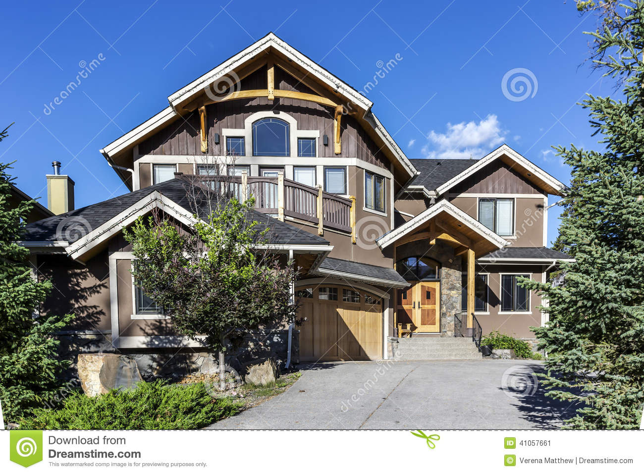 Western Style Home Stock Photo Image 41057661