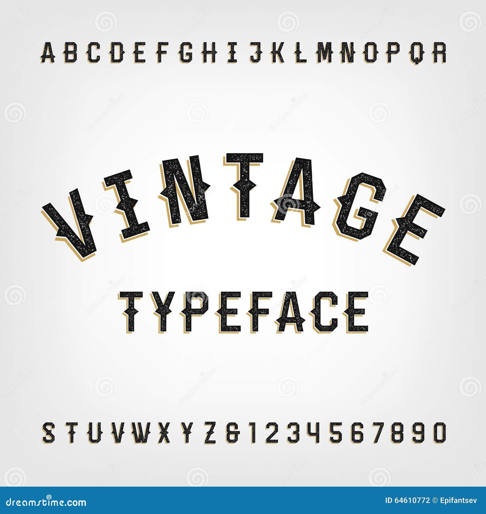 Western Style Retro Distressed Alphabet Vector Font Stock