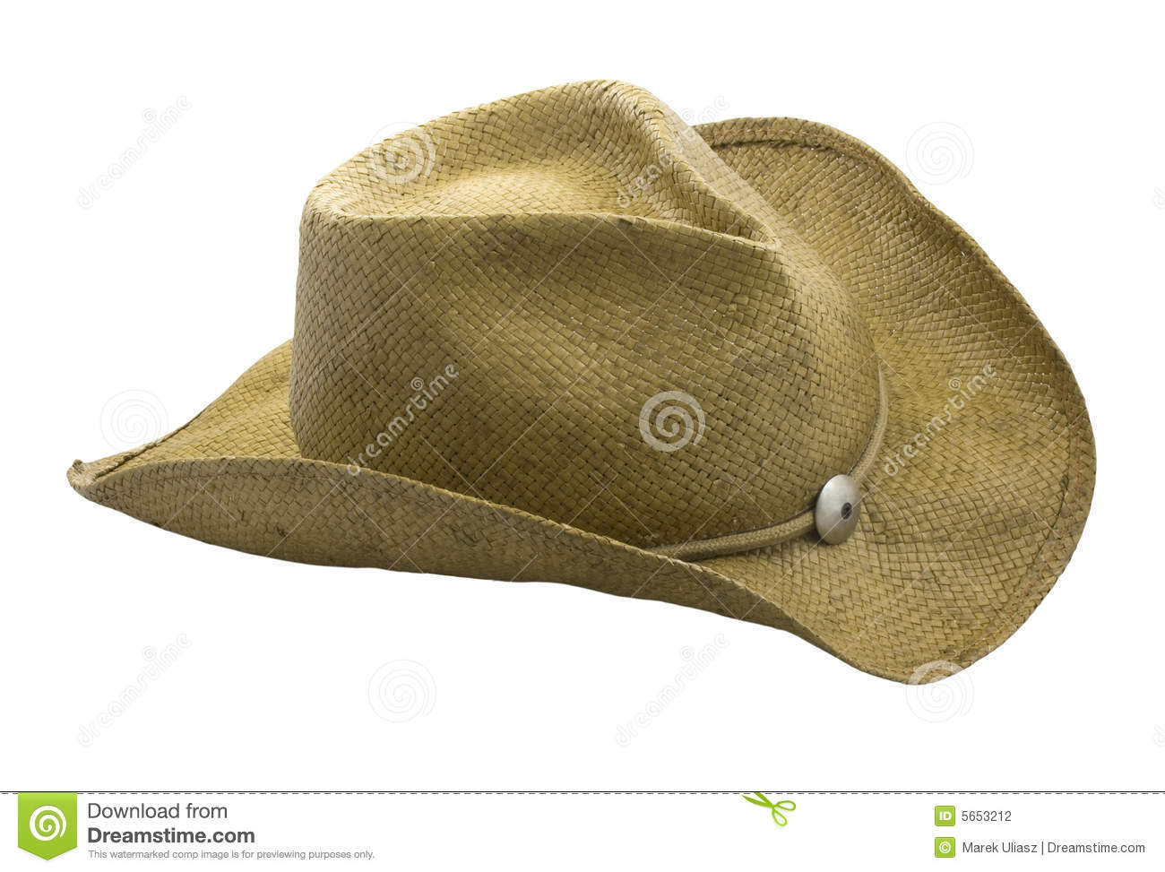 53b5ce81463 Western style straw hat isolated on white. clipping path included