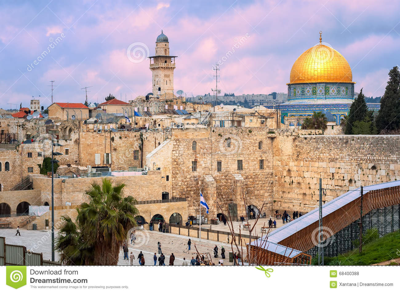 Western Wall and The Dome of the Rock, Jerusalem, Israel