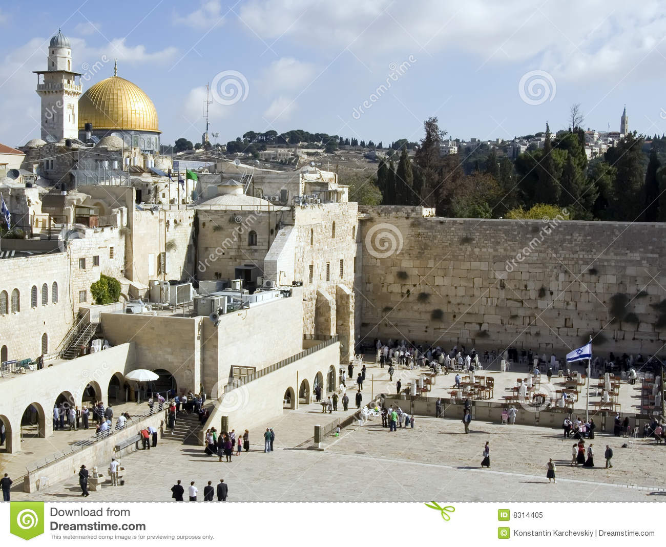 Download Western Wall in Jerusalem stock image. Image of history - 8314405