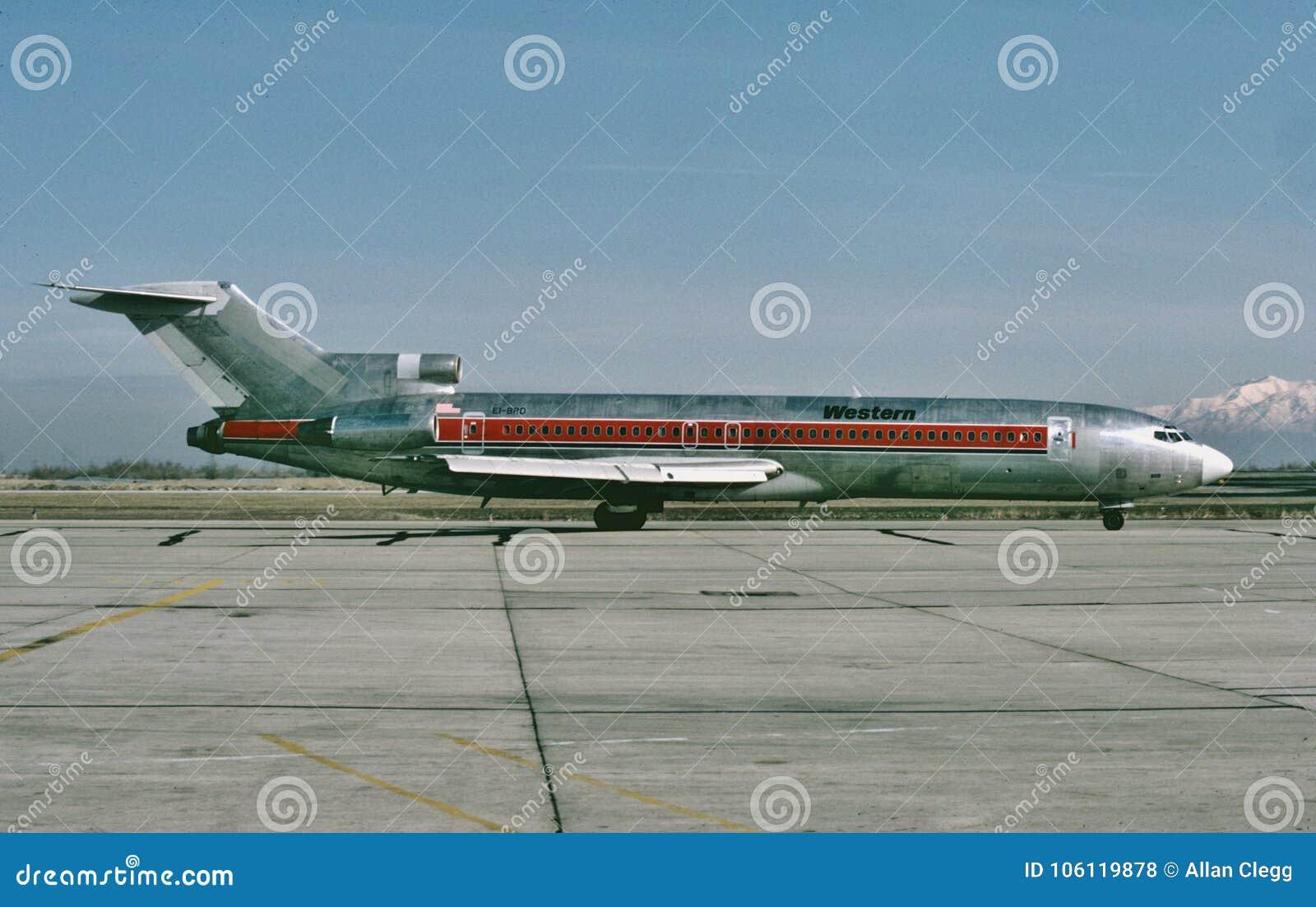 Westfluglinien Boeing B-727 nach einem anderen Flug nach Salt Lake City, Utah