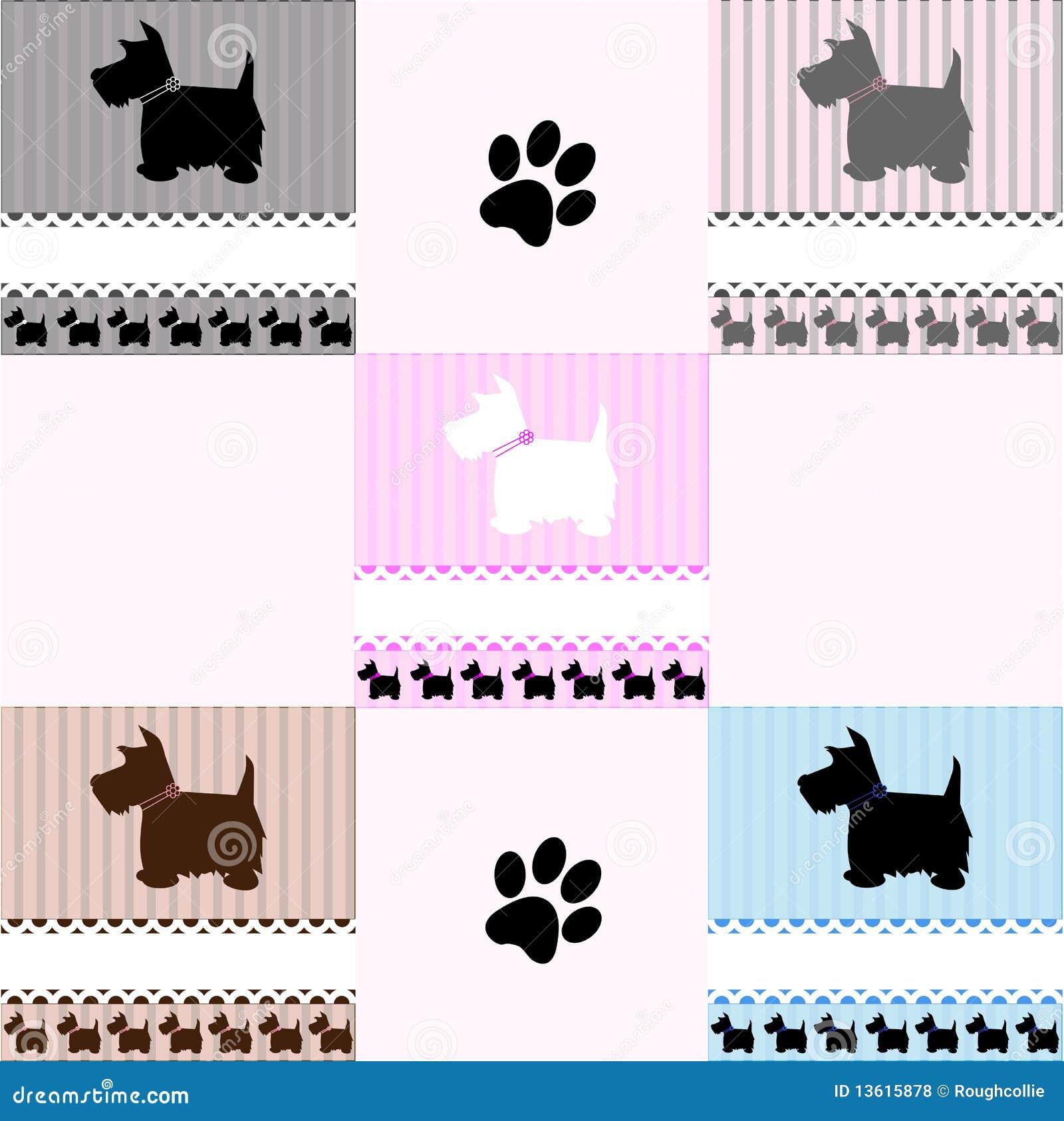 Westie Terrier Dog Tiles Stock Vector Image Of Icon