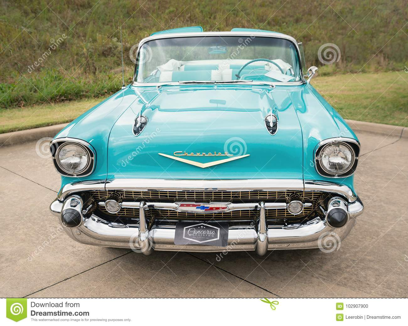 1957 Chevrolet Bel Air Convertible Classic Car Editorial Image Chevy