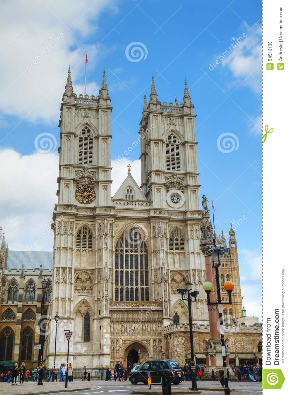 Westminster Abbey Church In London Editorial Stock Photo Image 54513138