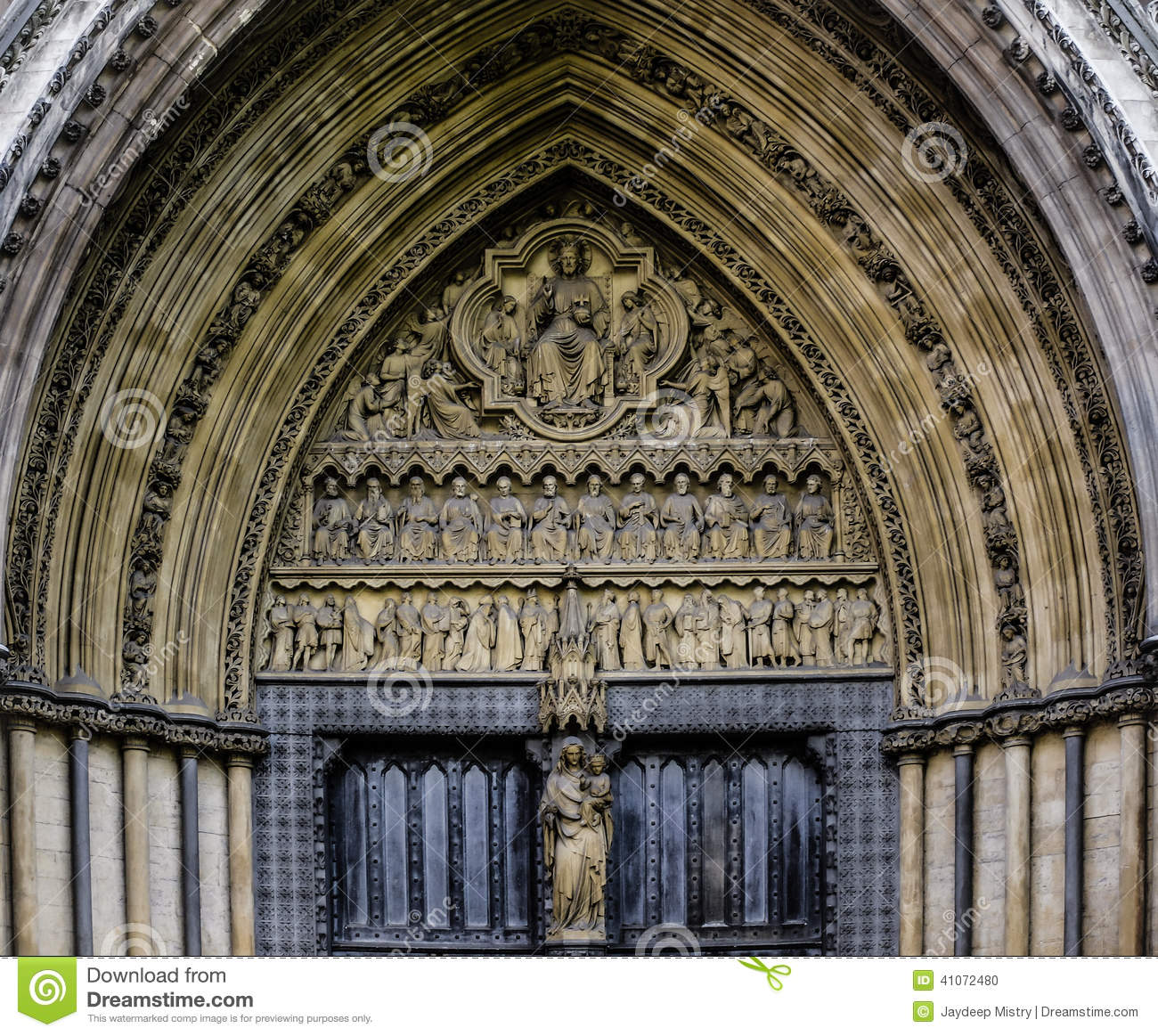 Royalty-Free Stock Photo. Download Westminster Abbey Entrance Door ... & Westminster Abbey Entrance Door Stock Photo - Image: 41072480 Pezcame.Com