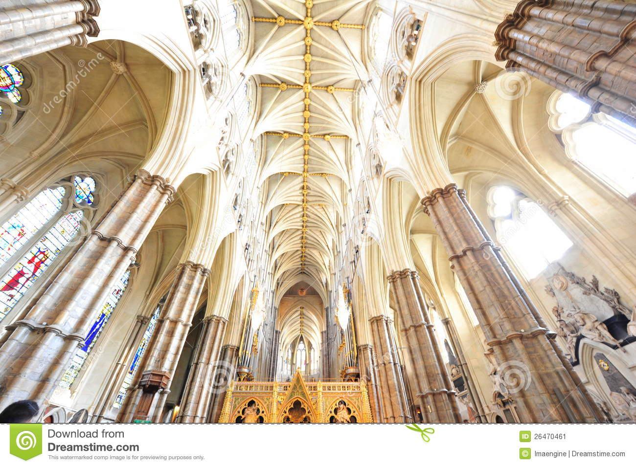 Westminster Abbey interior gothic details