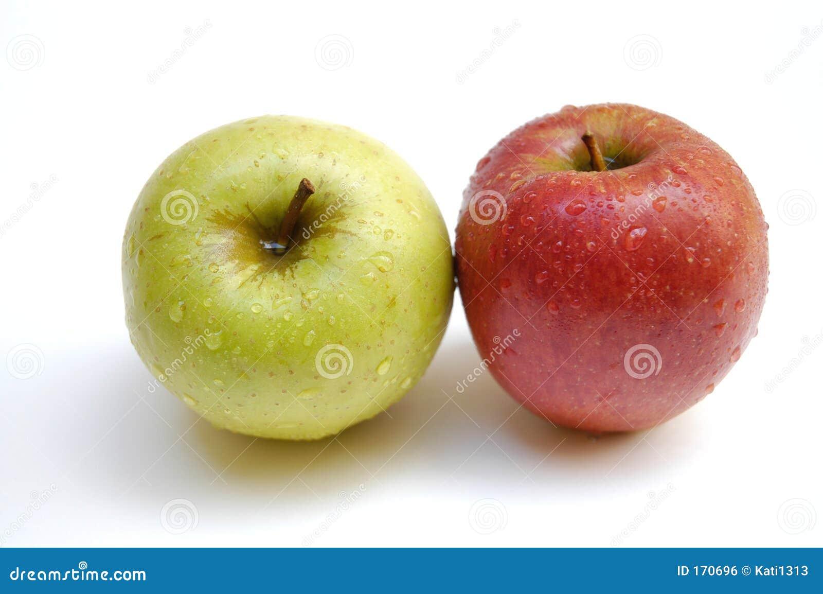Wet apples
