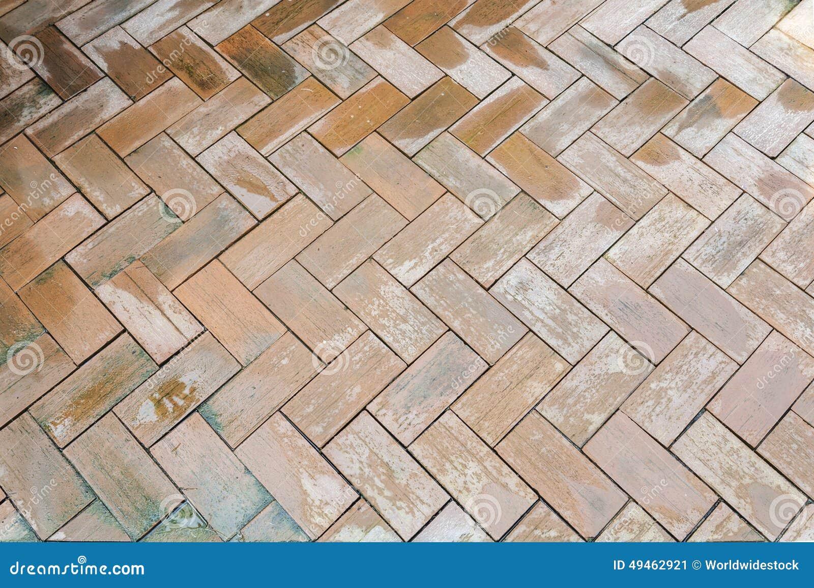 Download Wet Brown Brick Floor Pattern Stock Image
