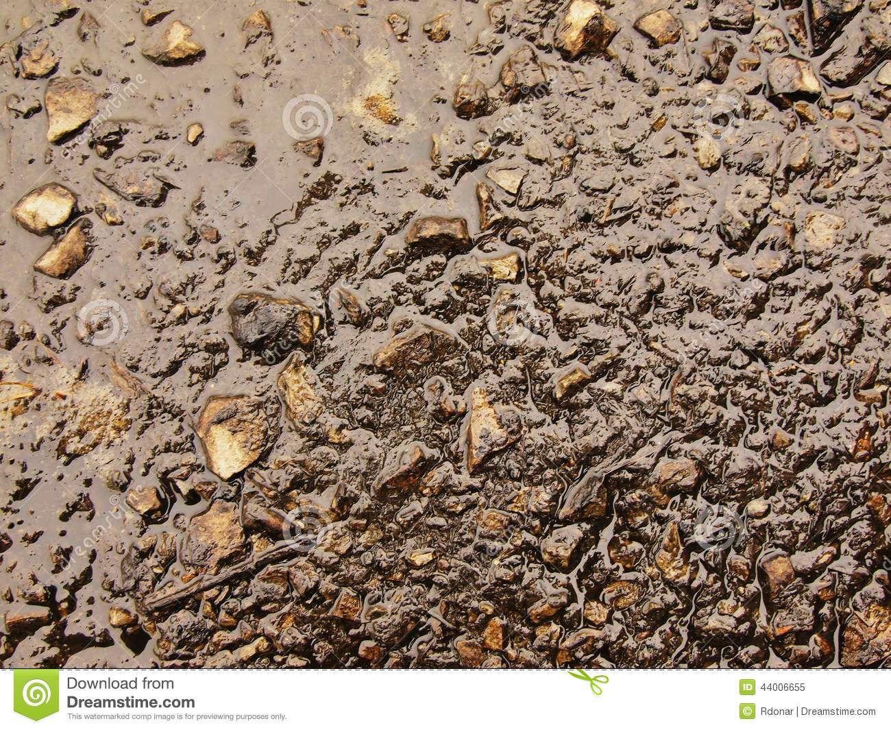 Download Wet Burnt Ash Of Grass Solidified By Rain Into Dark Mud. Water Hanged Ash Into Cover Stock Image - Image of drought, black: 44006655