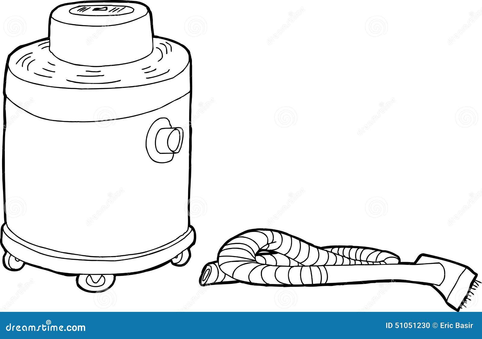 Wet Dry Vacuum Outline Stock Illustration Image 51051230