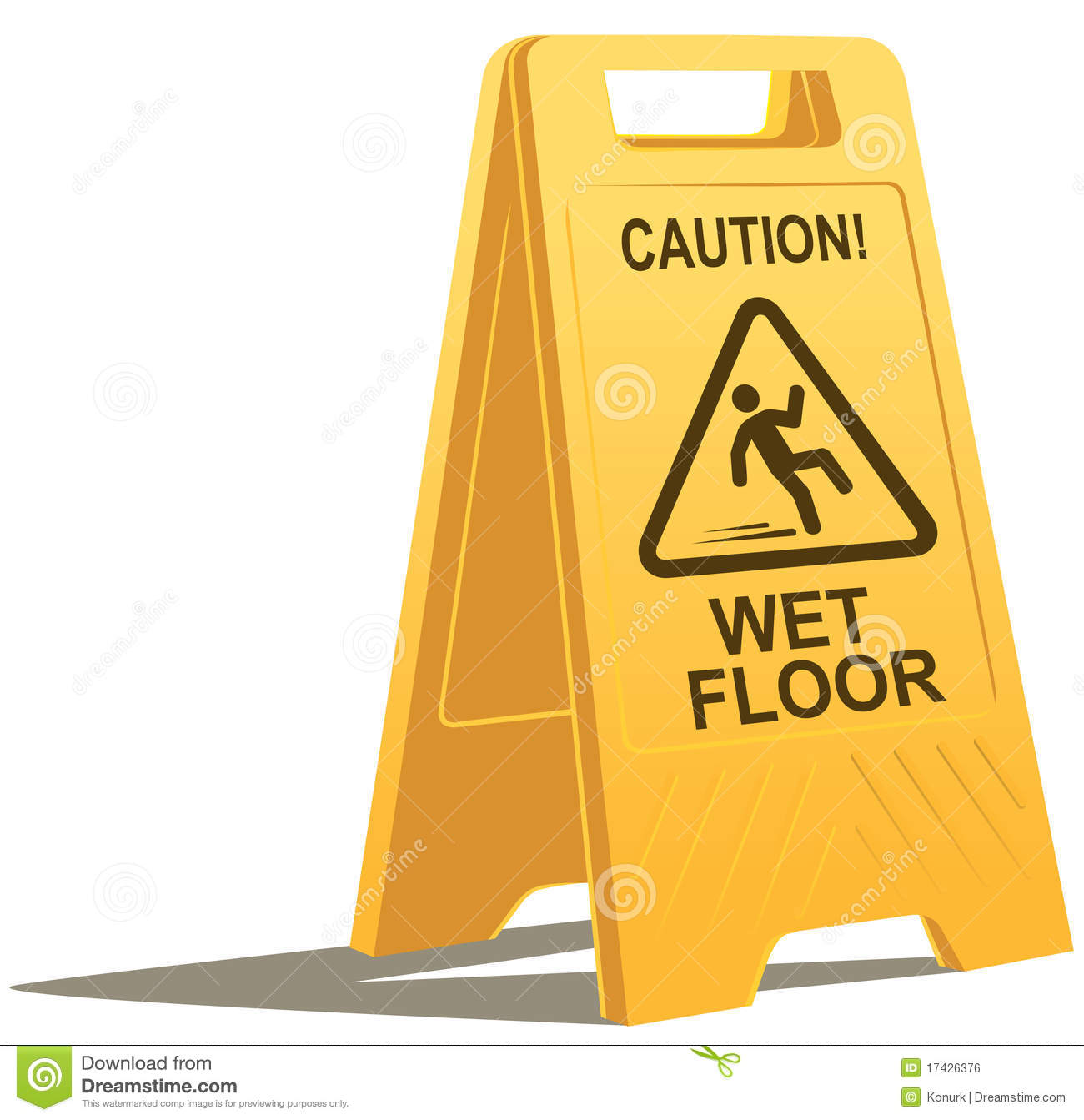 Wet Floor Caution Sign Royalty Free Stock Image Image