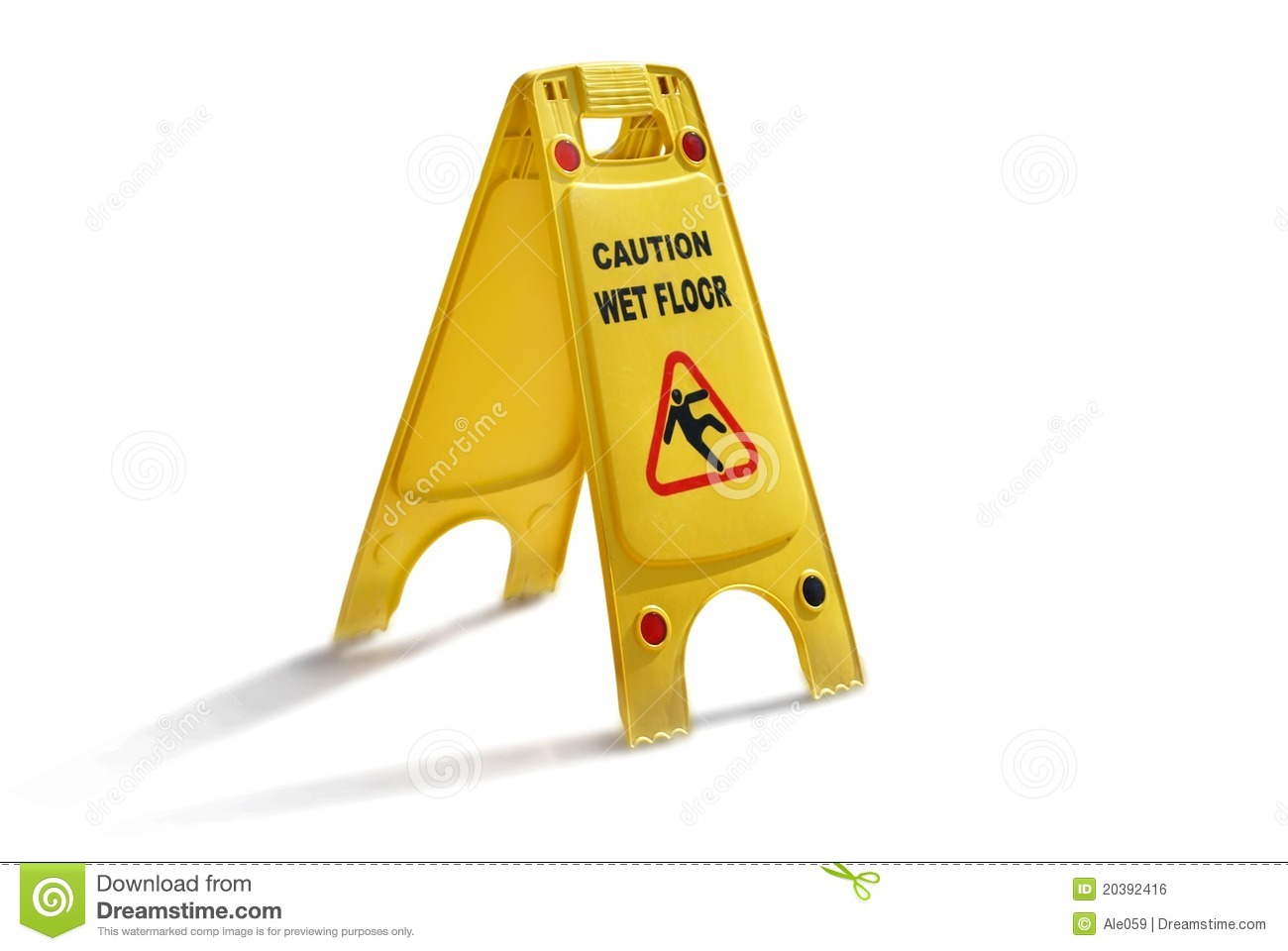 Wet Floor Sign Stock Photo Image Of Slippery Person