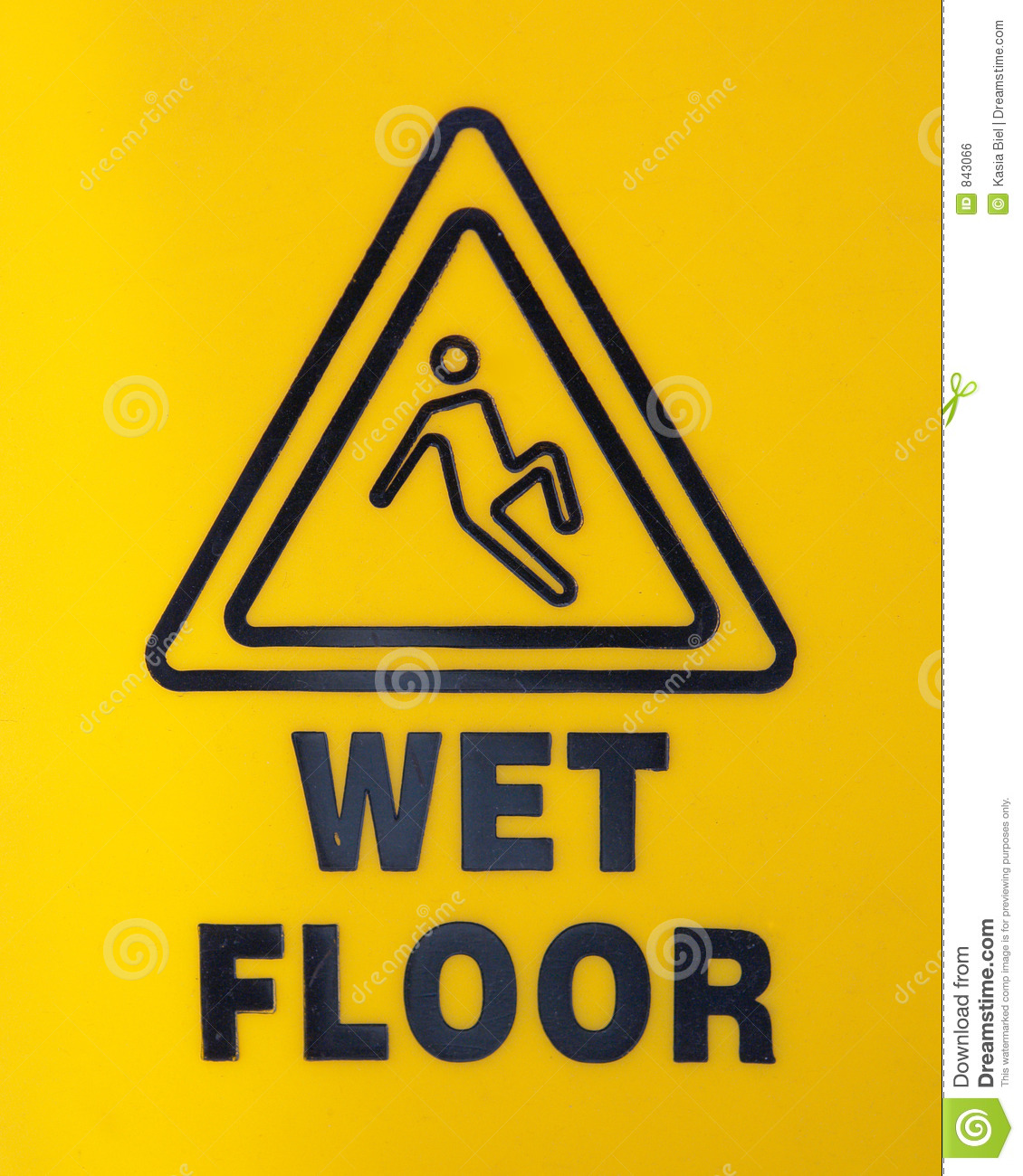 Wet Floor Sign Royalty Free Stock Image Image 843066