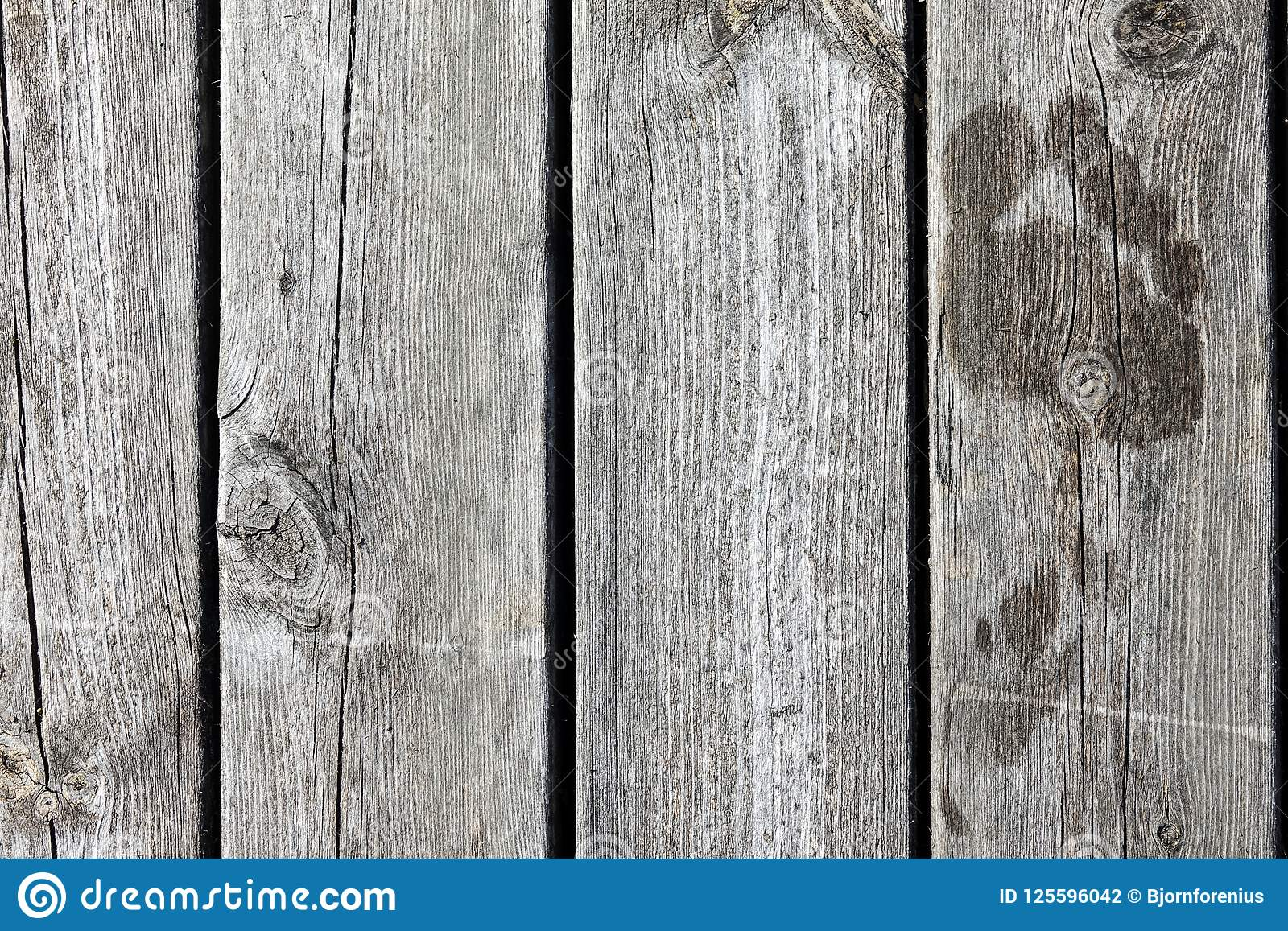 Wet Footprints On A Wooden Jetty / Bridge. Stock Photo - Image of ...