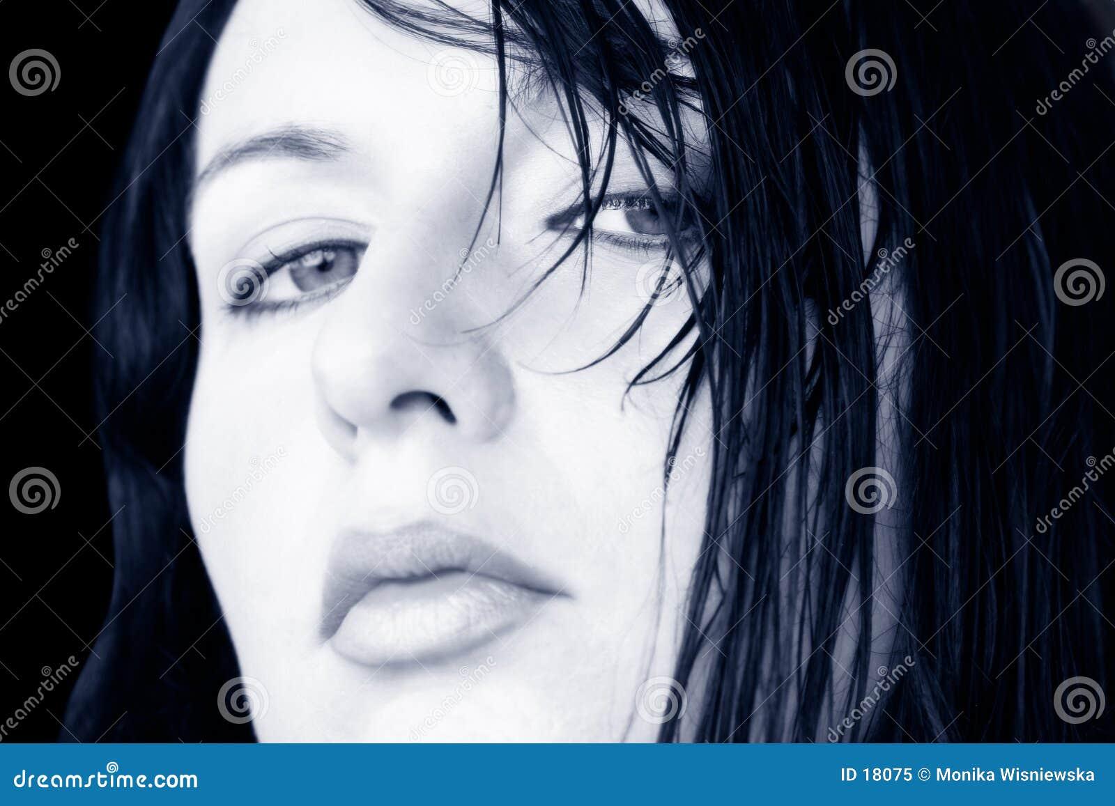 Wet Hair Woman