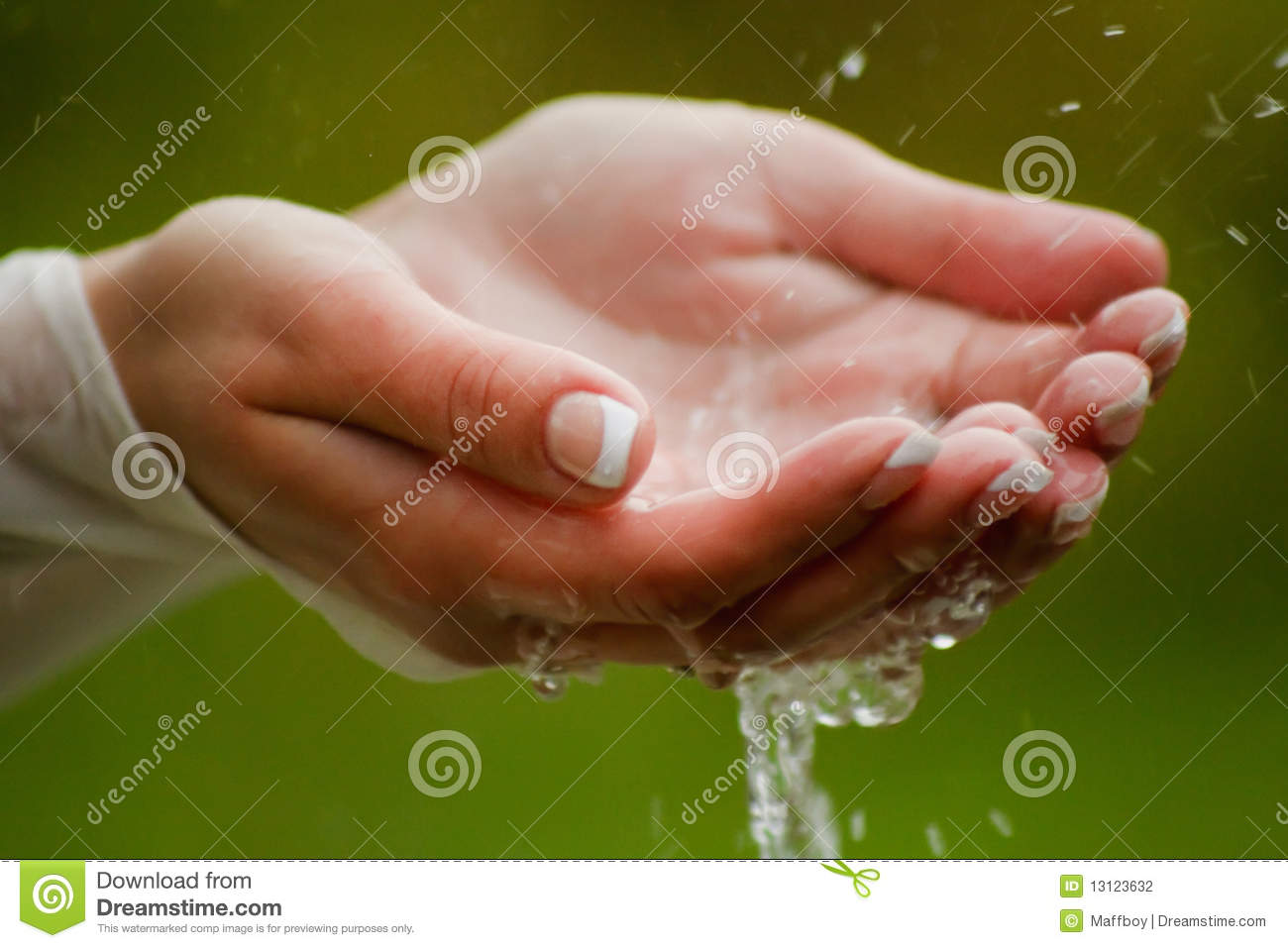 Wet Hands Stock Photography - Image: 13123632