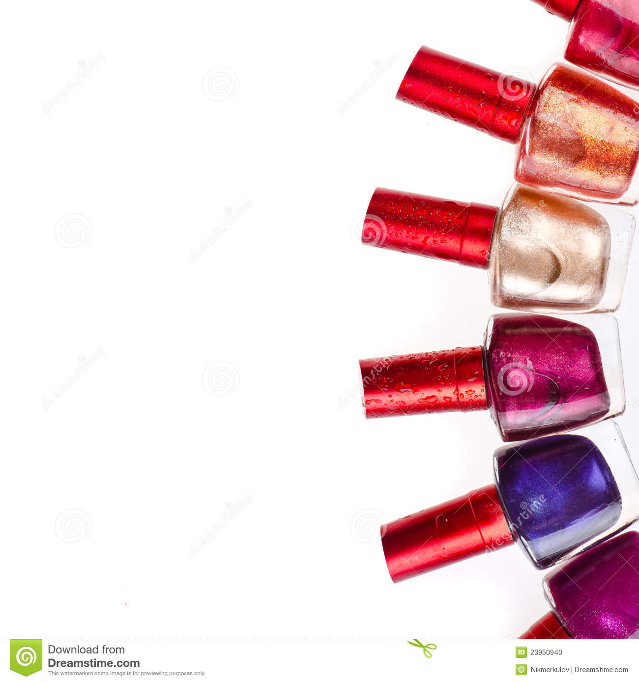 Wet nail polish stock photo image 23950940 for How to renew old nail polish