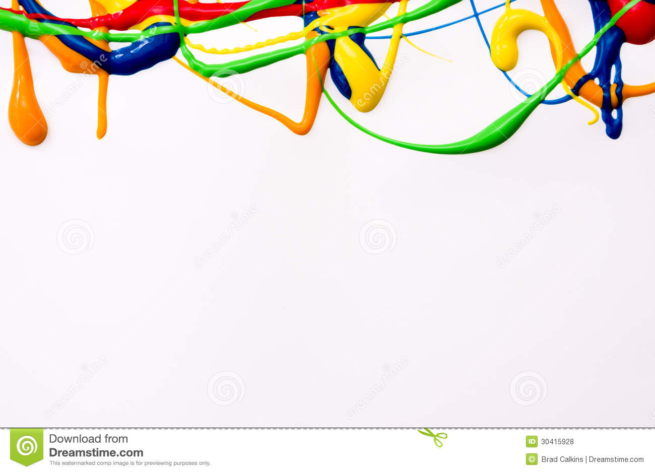 Wet paint border stock photo. Image of colors, green ...