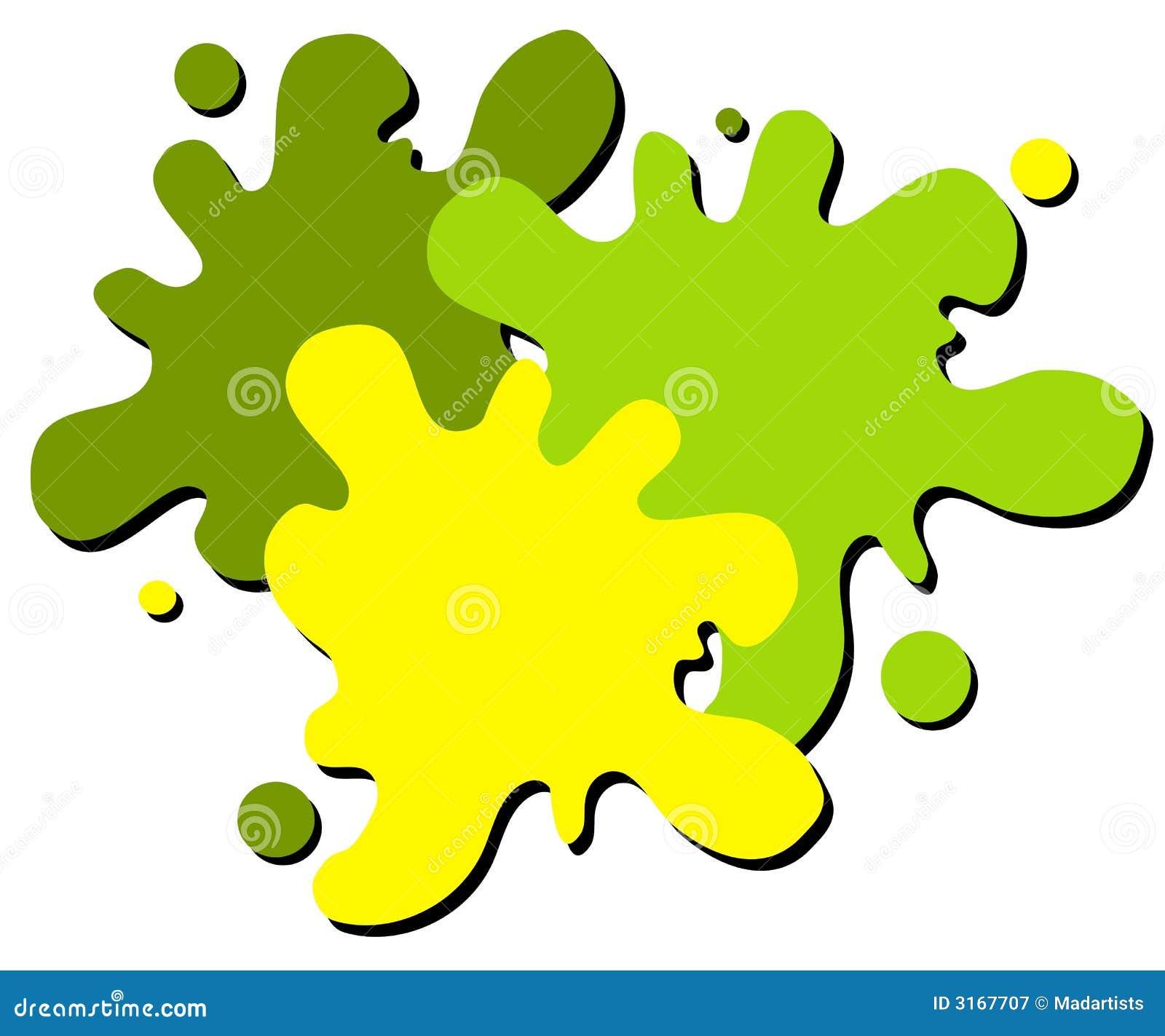 Wet Paint Splatter Web Logo 2 Royalty Free Stock