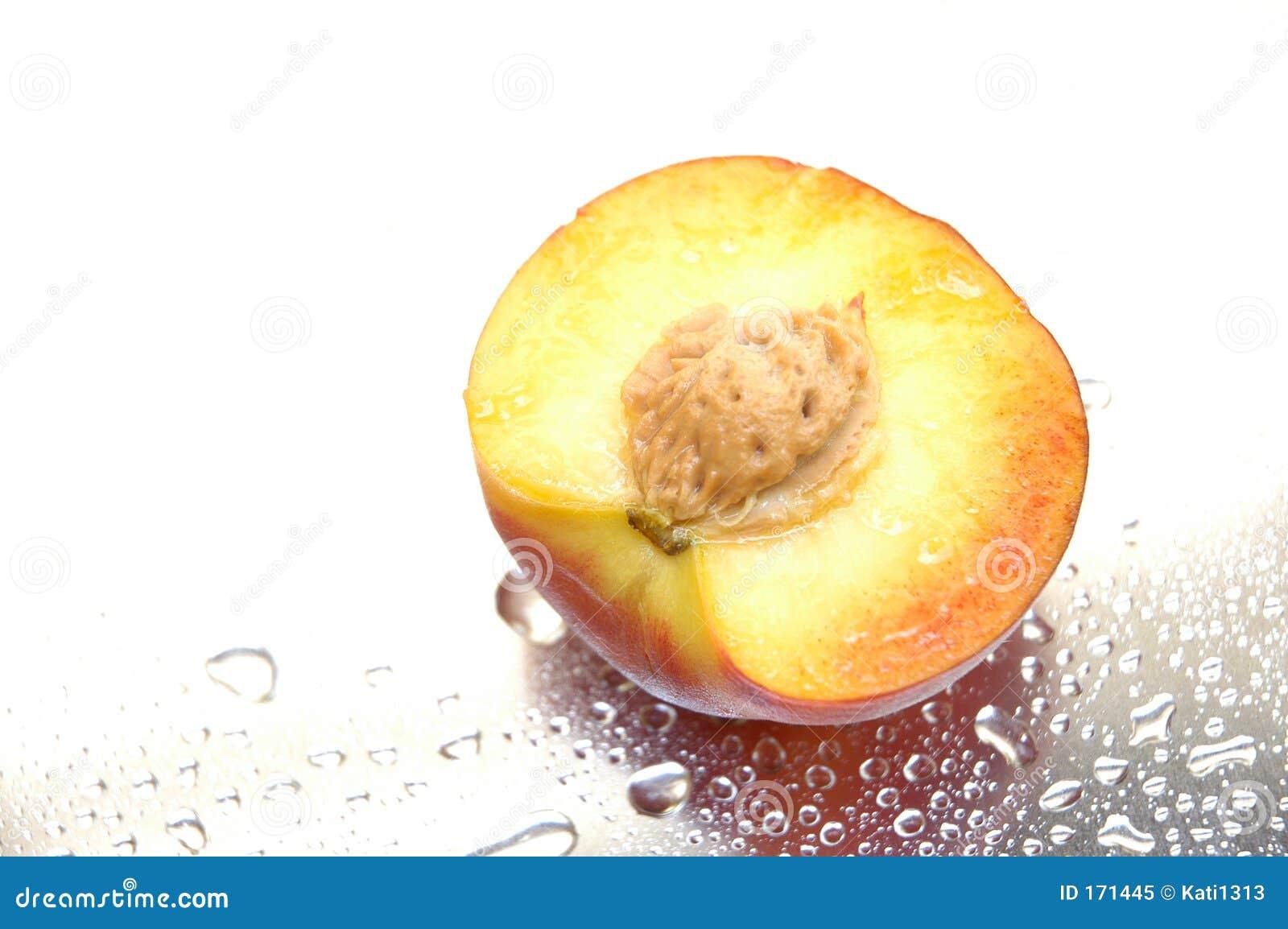 Wet peach
