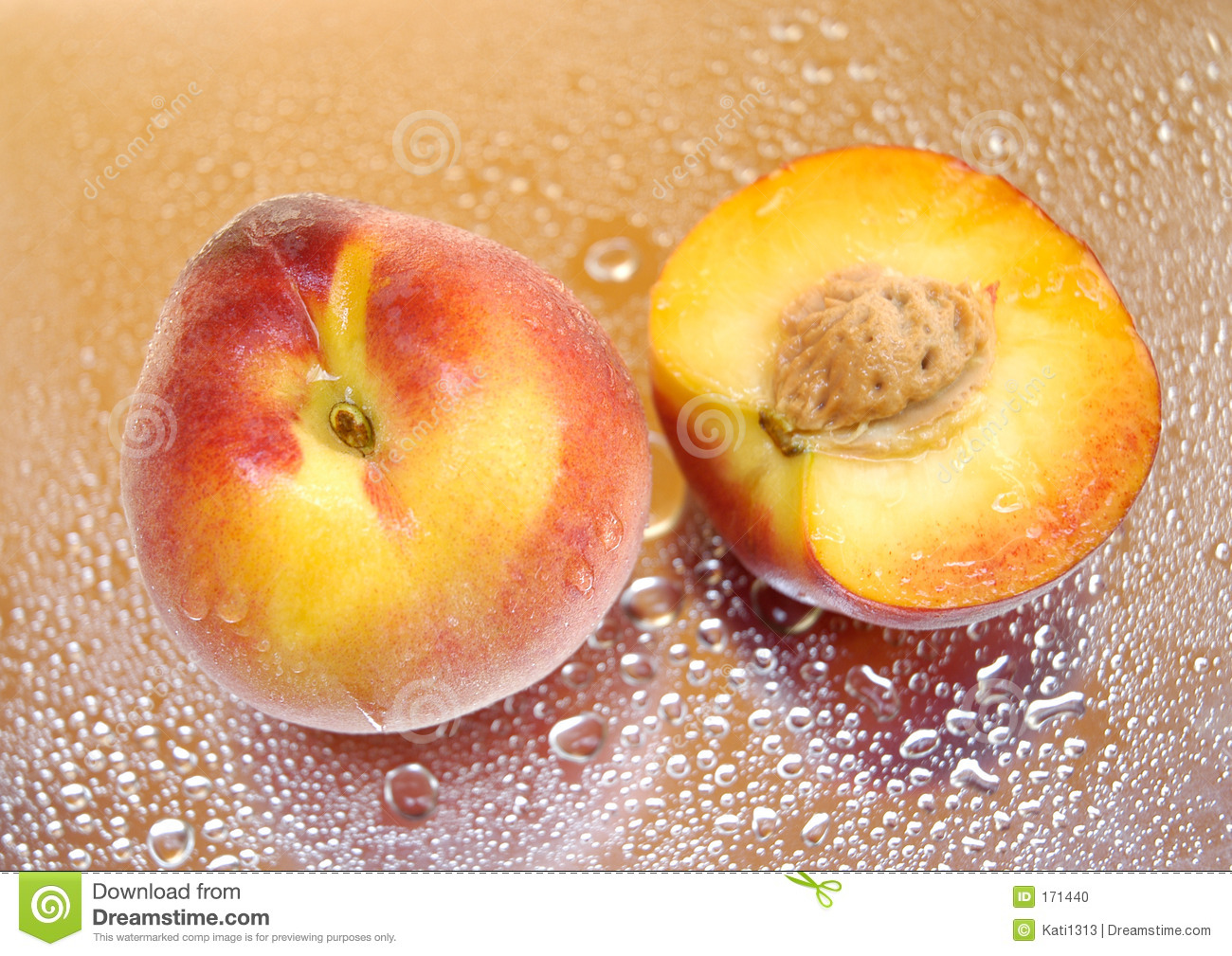 Wet peaches