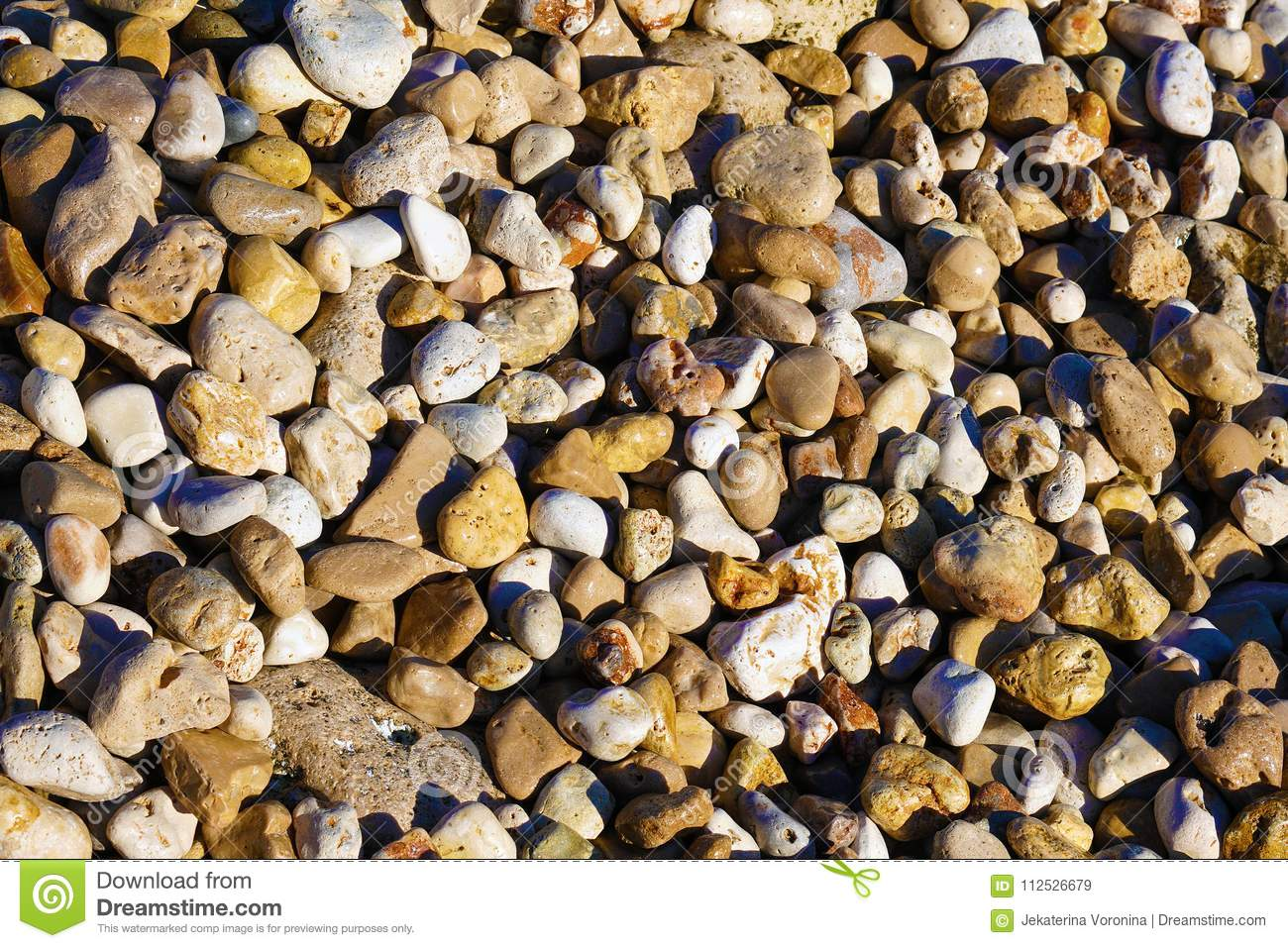 Wet pebble texture