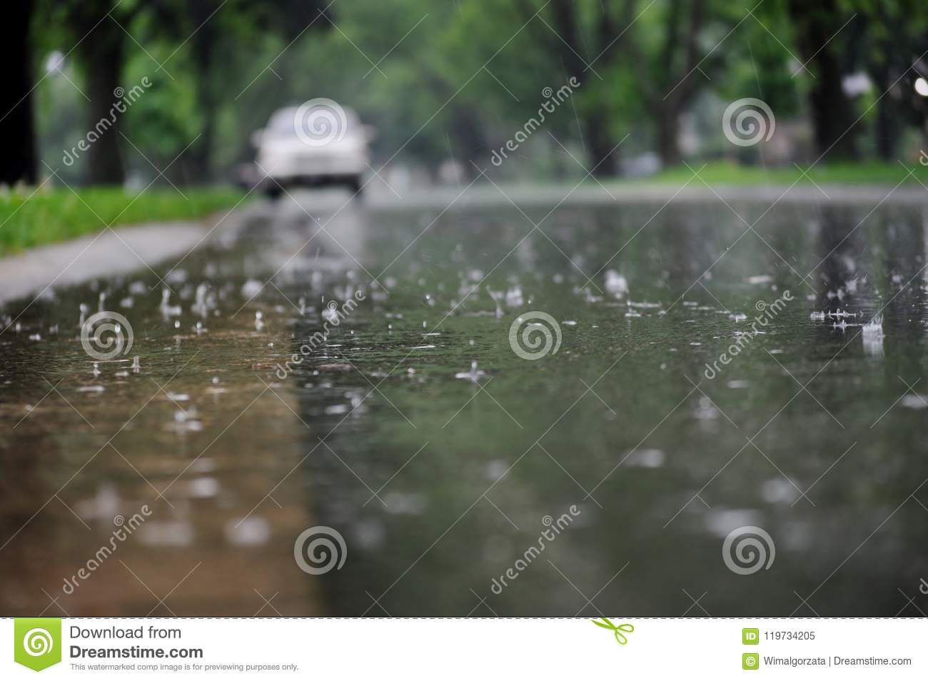 wet street surface during rain stock image image of level