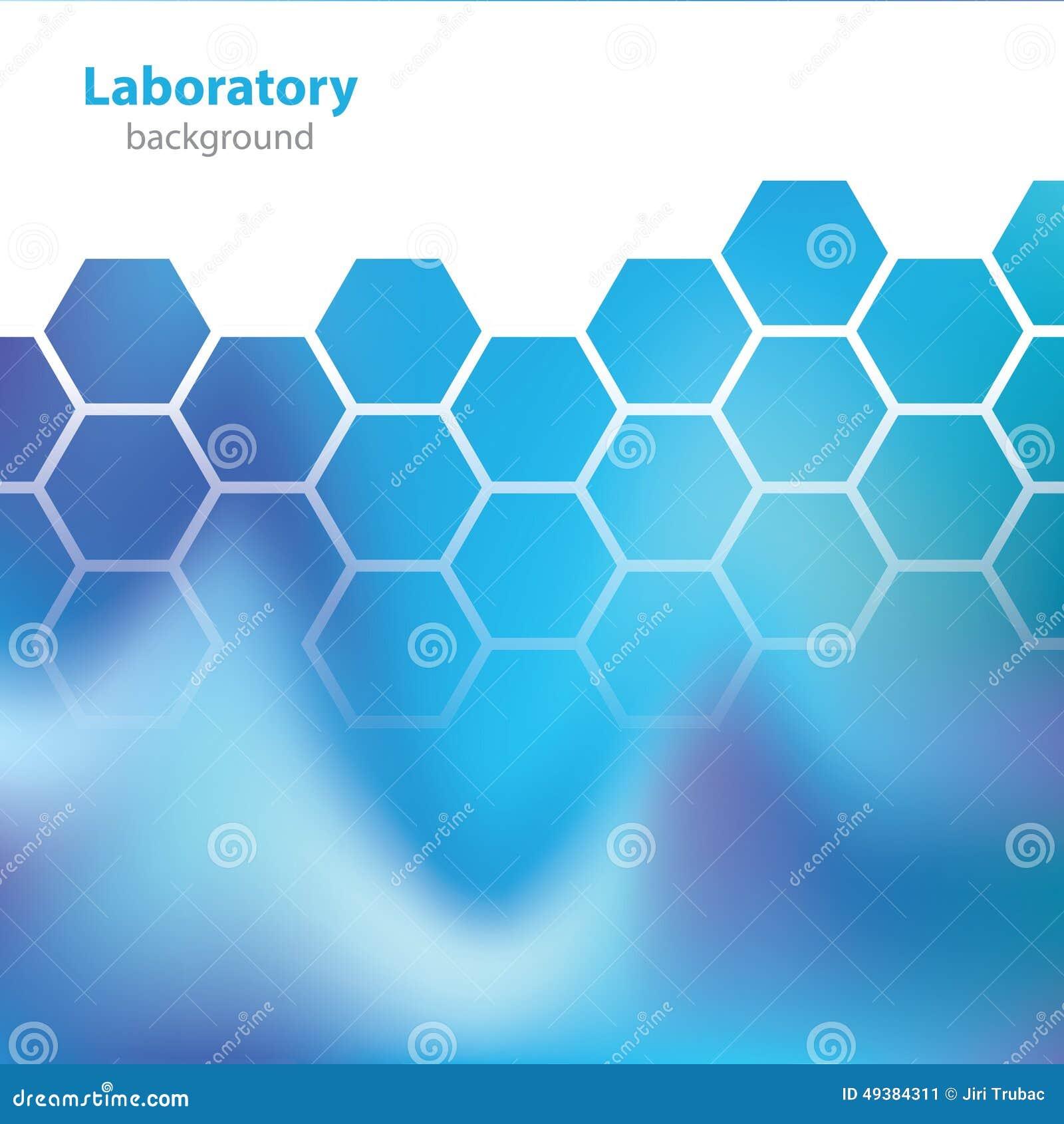 Wetenschap en Onderzoek - laboratorium blauwe achtergrond -