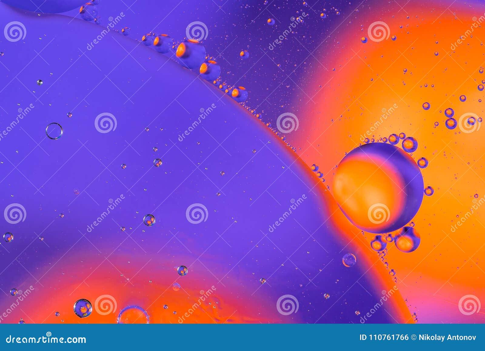 Wetenschappelijk beeld van celmembraan Macro omhoog van vloeibare substanties Abstracte sctructure van het moleculeatoom De belle