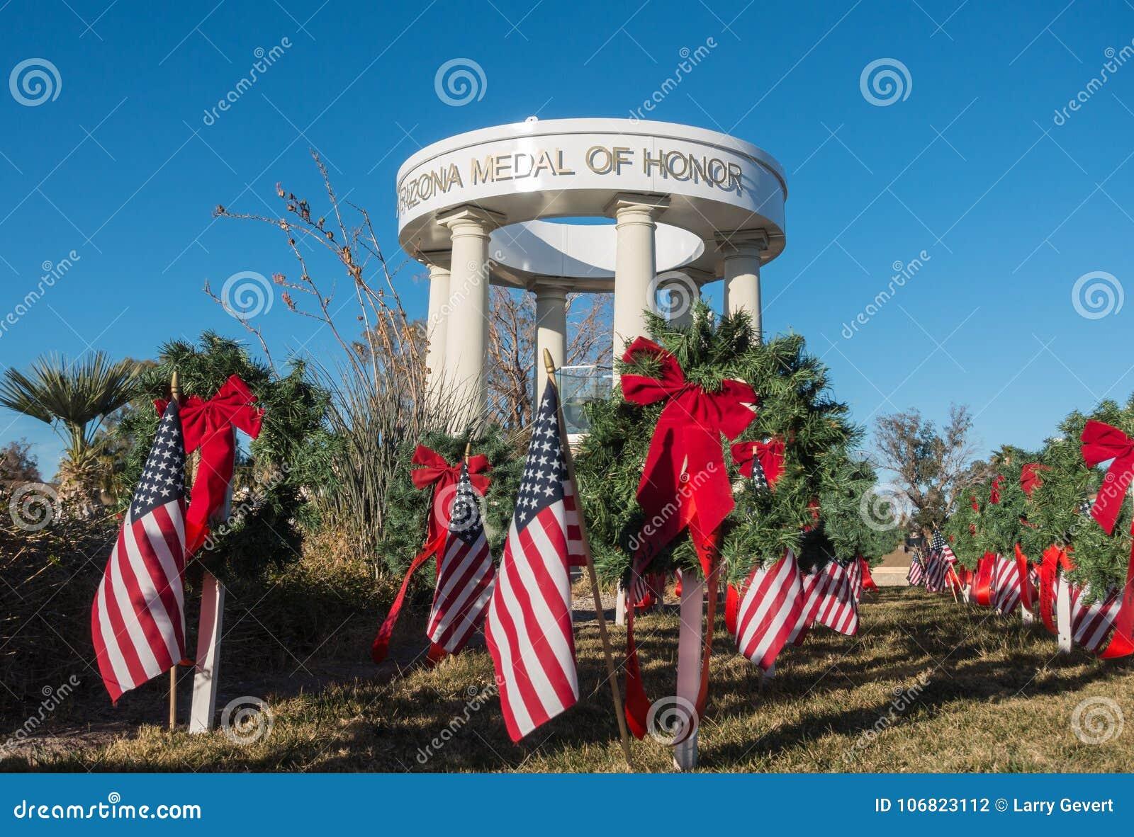 Weterana pomnik, Arizona honor medal
