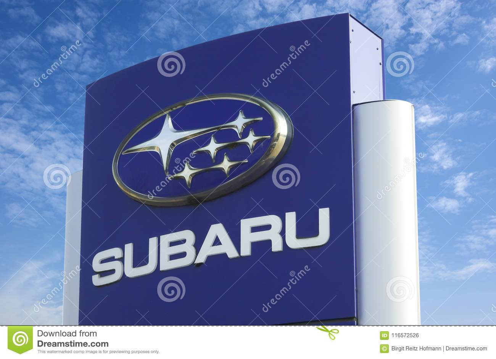 Subaru Logo Editorial Photo Image Of Brand Transportation 116572526