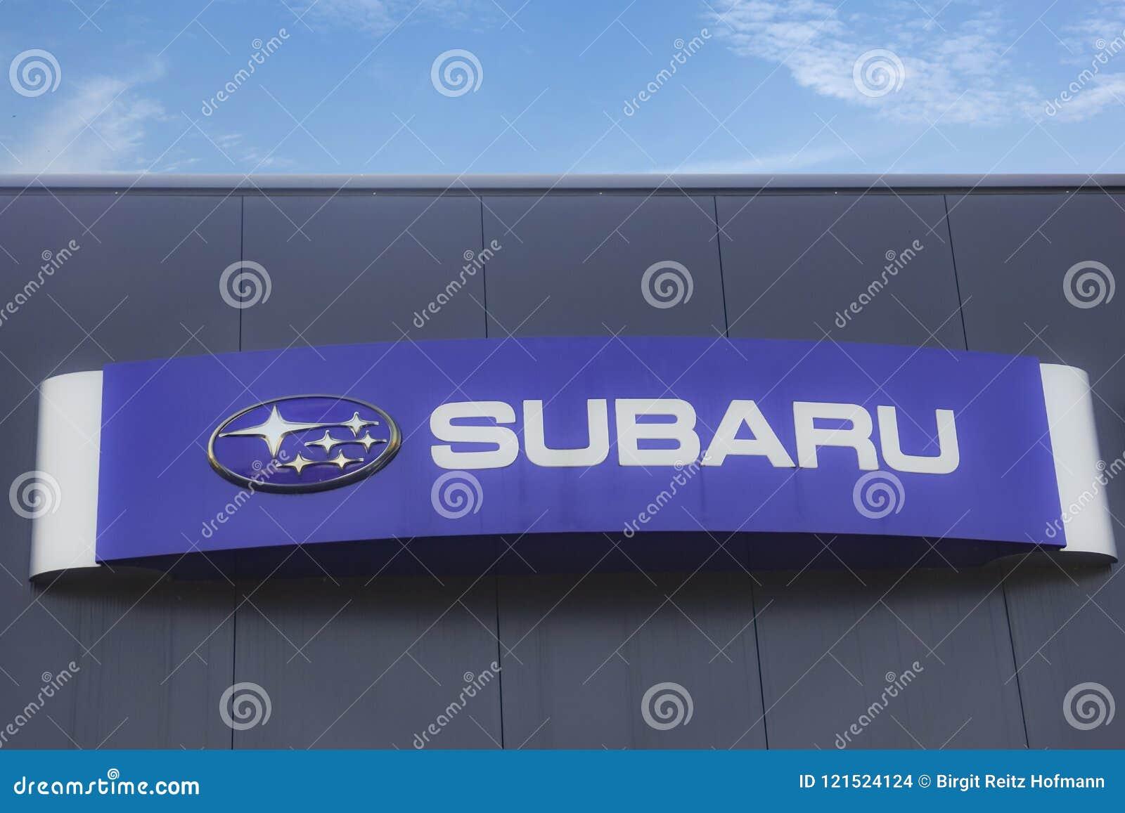 Subaru Logo On Facade Editorial Stock Image Image Of Motor 121524124