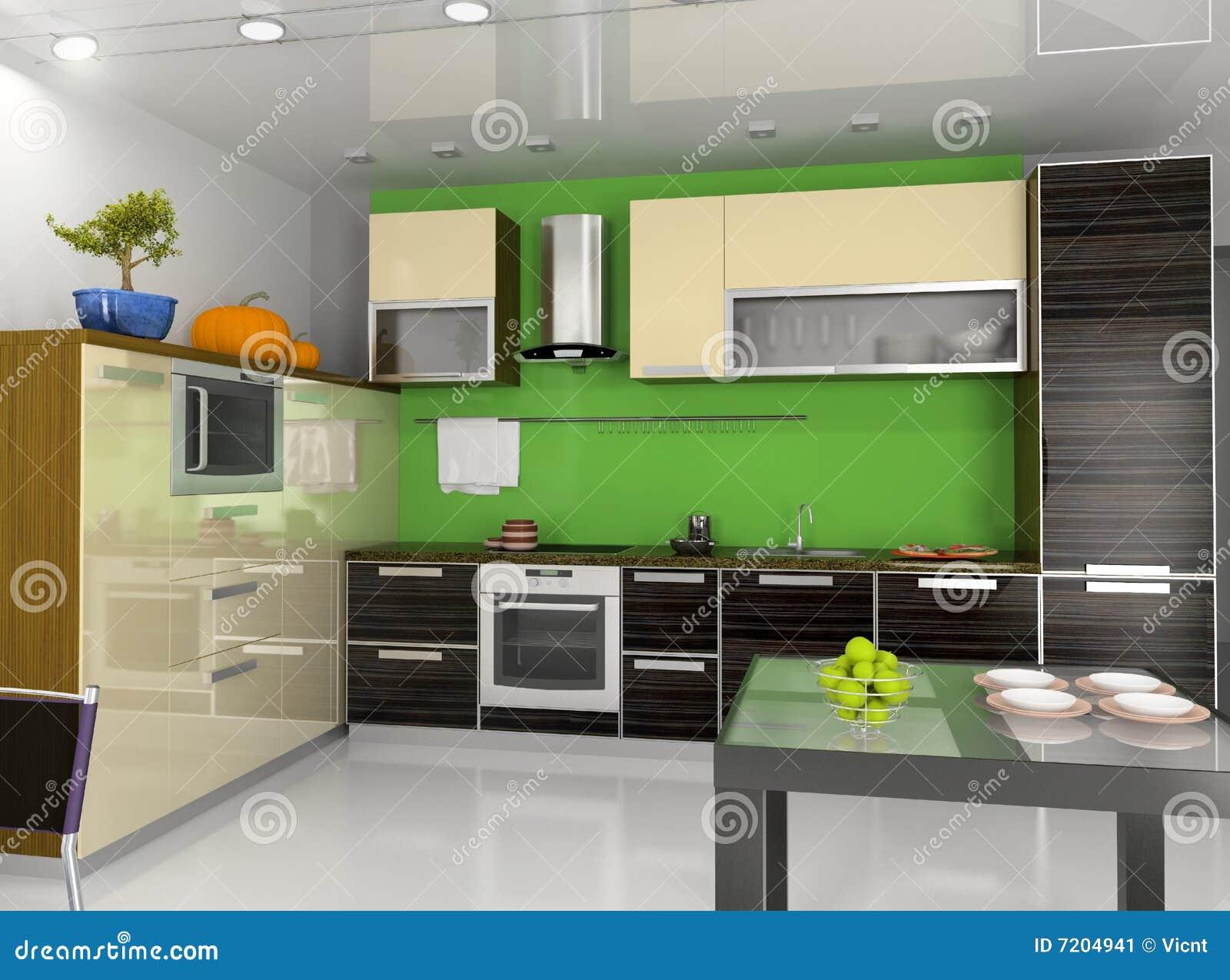 Wewnętrzny kuchenny nowożytny
