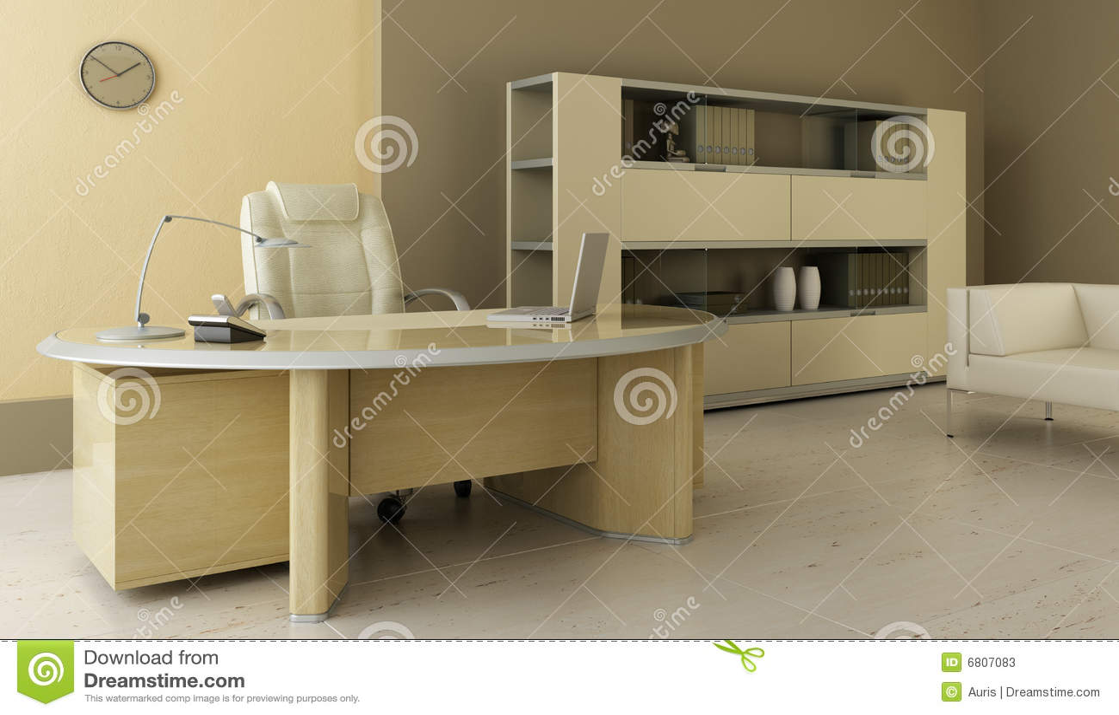 Wewnętrzny nowożytny biuro