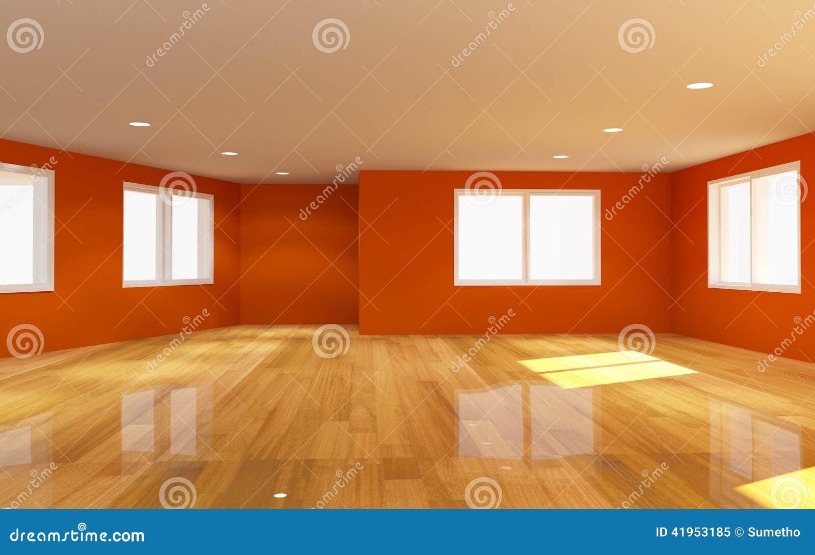 Wewnętrzny pomarańczowy pokój