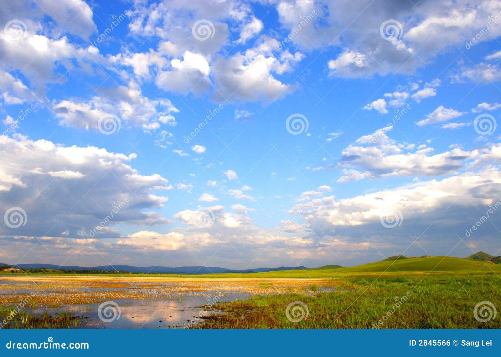 Wewnętrzny prerii mongolian niebo