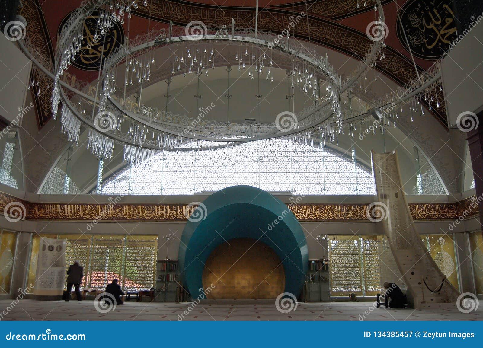 Wewnętrzny widok Sakirin meczet w Istanbuł, Turcja